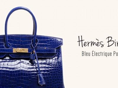 Hermès Birkin 35 in Bleu Électrique Porosus Crocodile