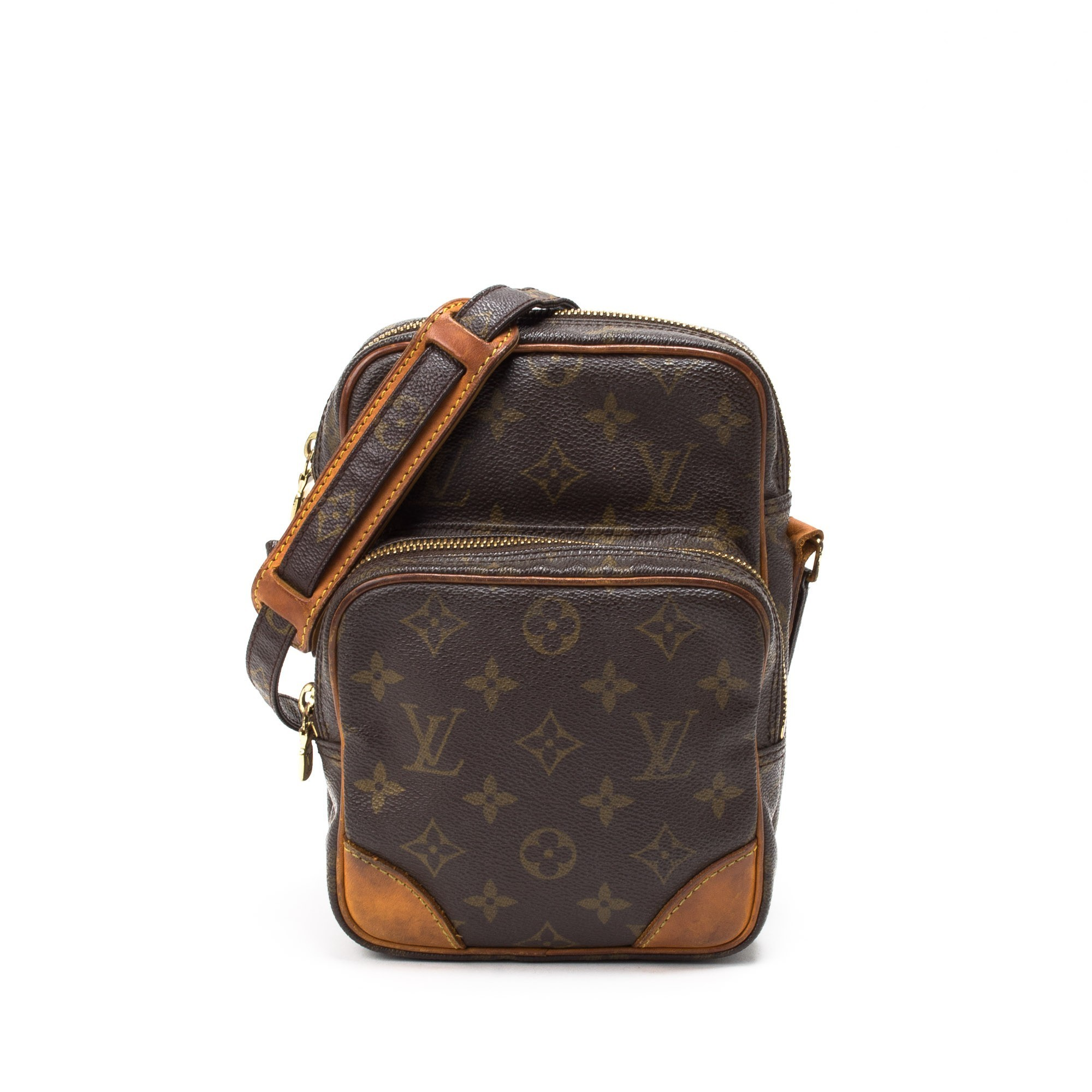 hermes messenger - Louis Vuitton Amazon Monogram Brown Coated Canvas Shoulder Bag ...