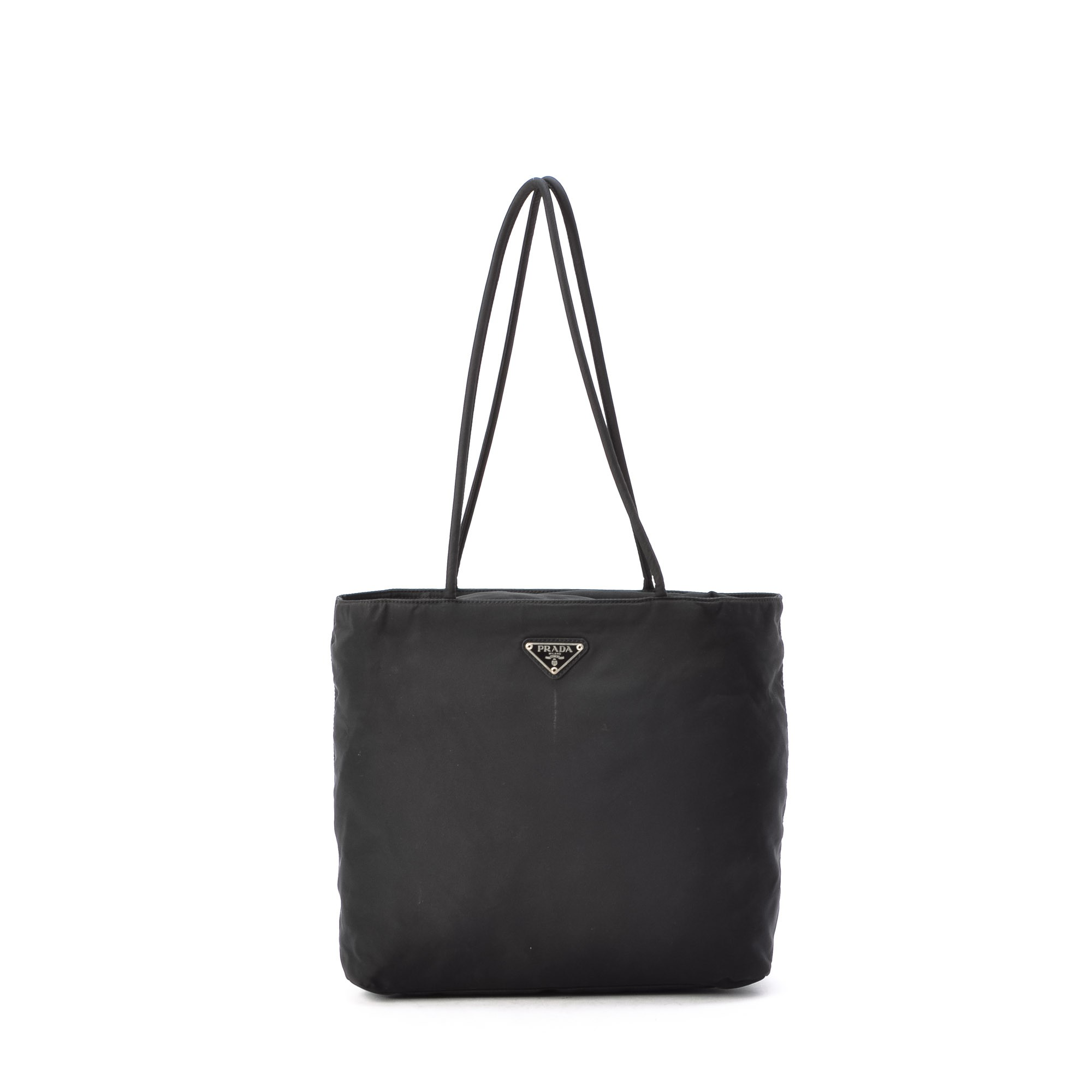 Prada Tote Bag Black Nylon Tote - LXR\u0026amp;CO Vintage Luxury