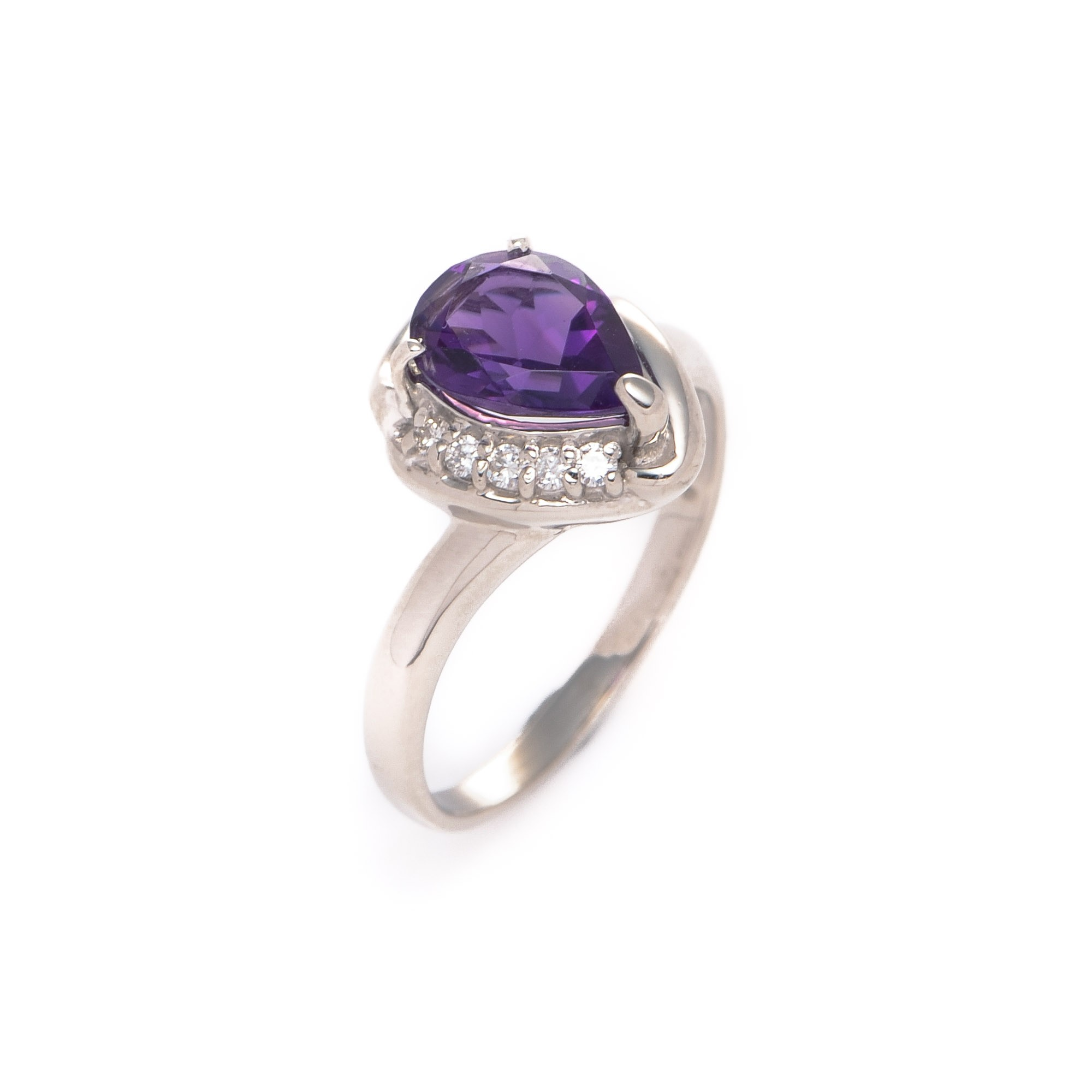 buy silver tone platinum estate jewelry ring at lxr co