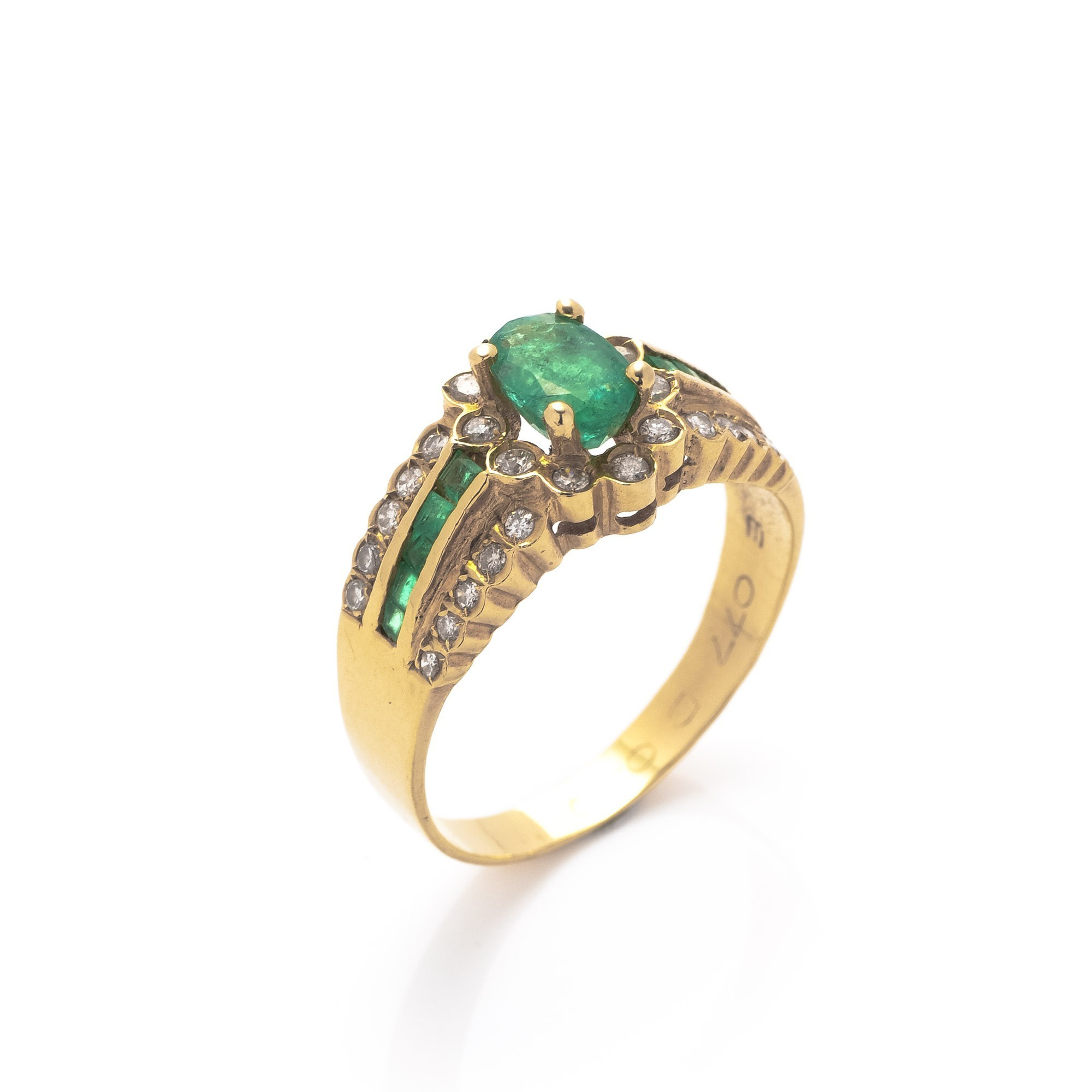 buy gold 18k gold estate jewelry ring at lxr co
