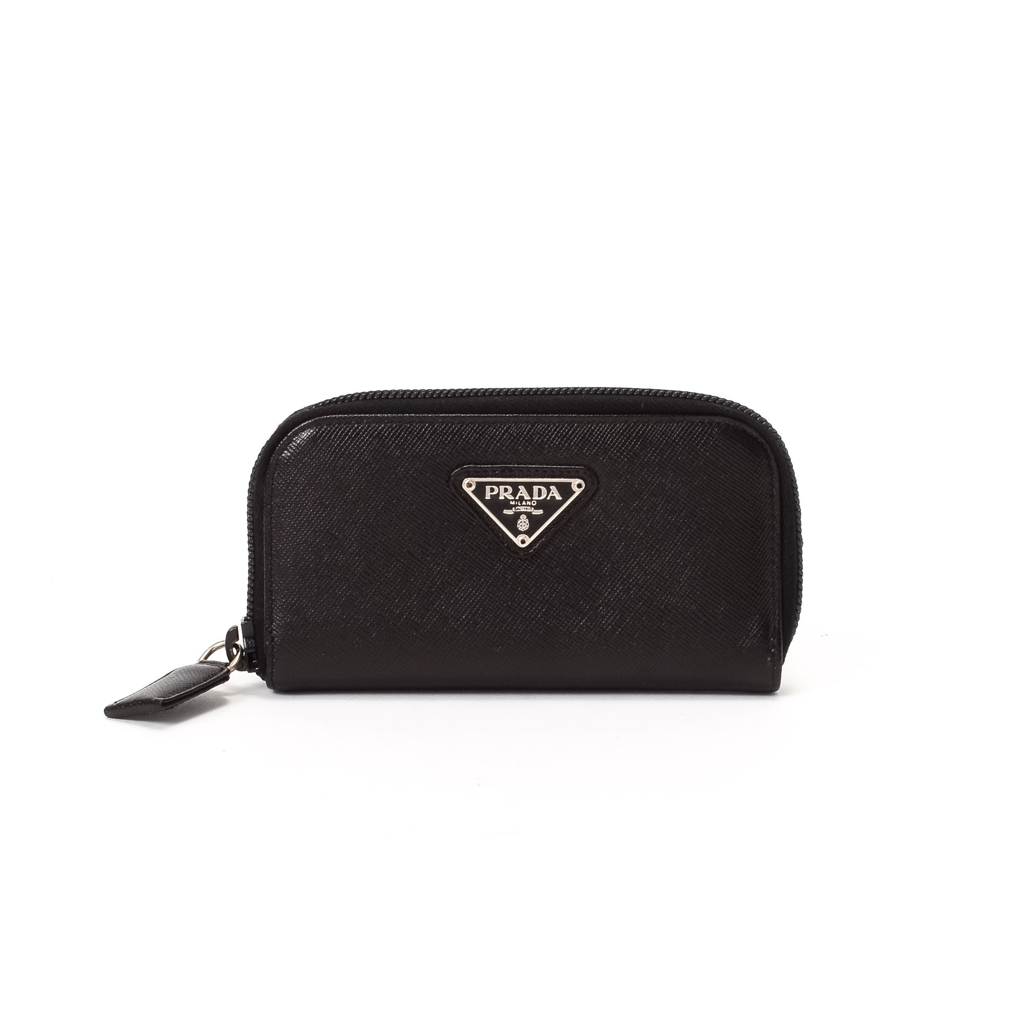 Prada Key Holder Saffiano Black Calf Other Small Leather Good ...