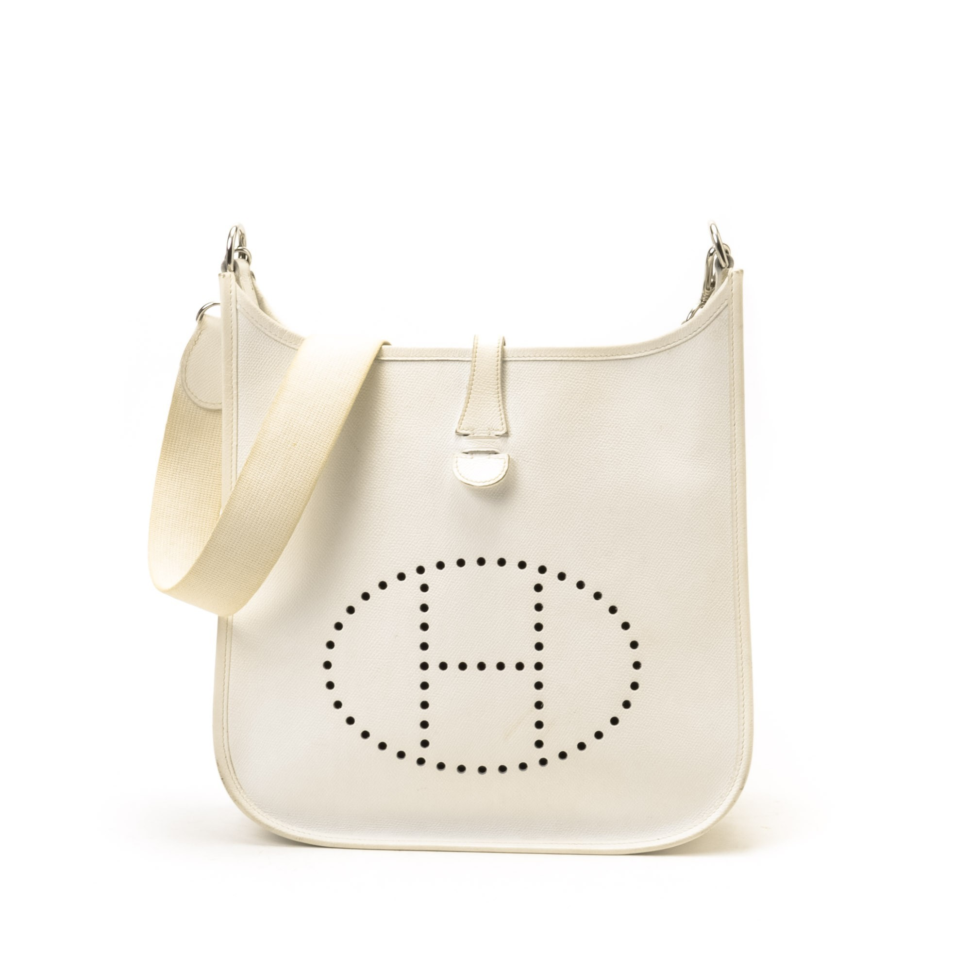 pink brighton purse - Herm��s Evelyne I PM Epsom White Calf Shoulder Bag - LXR&CO Vintage ...