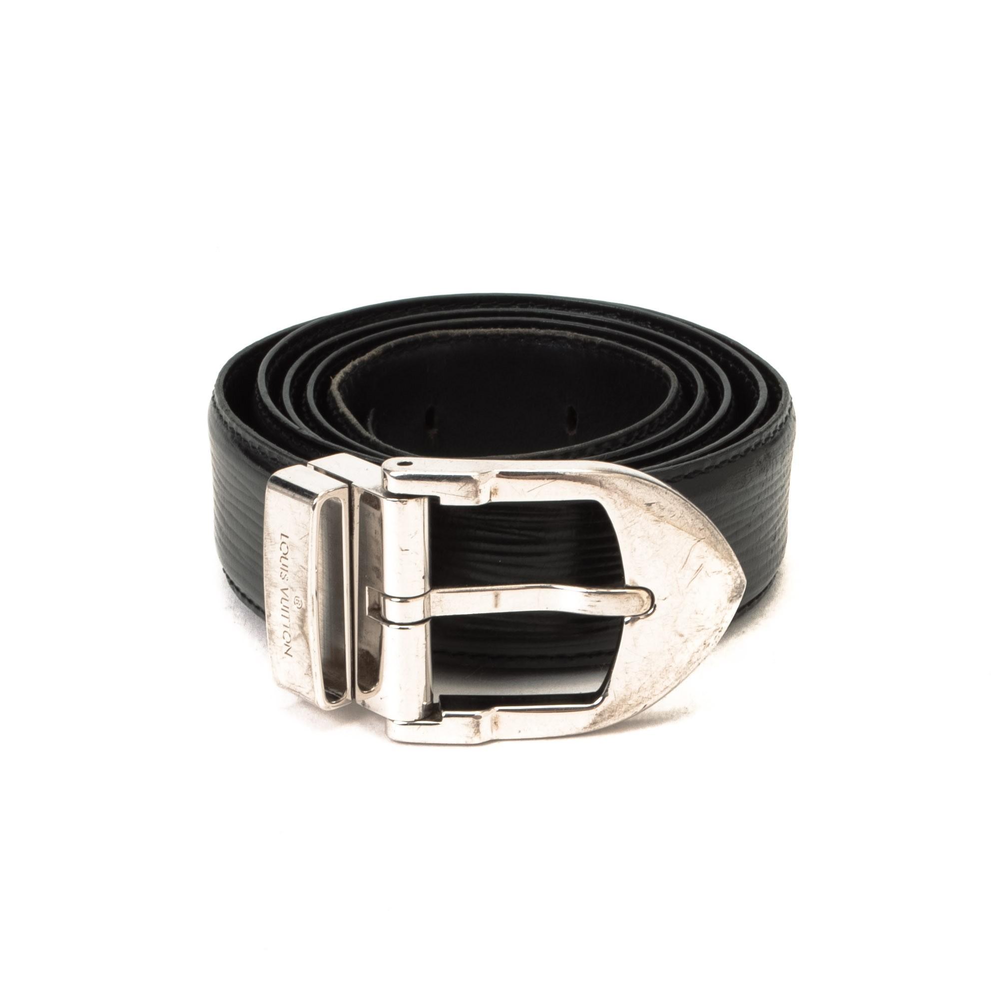 Louis Vuitton Ceinture Classique belt Epi Black Leather Belt ...
