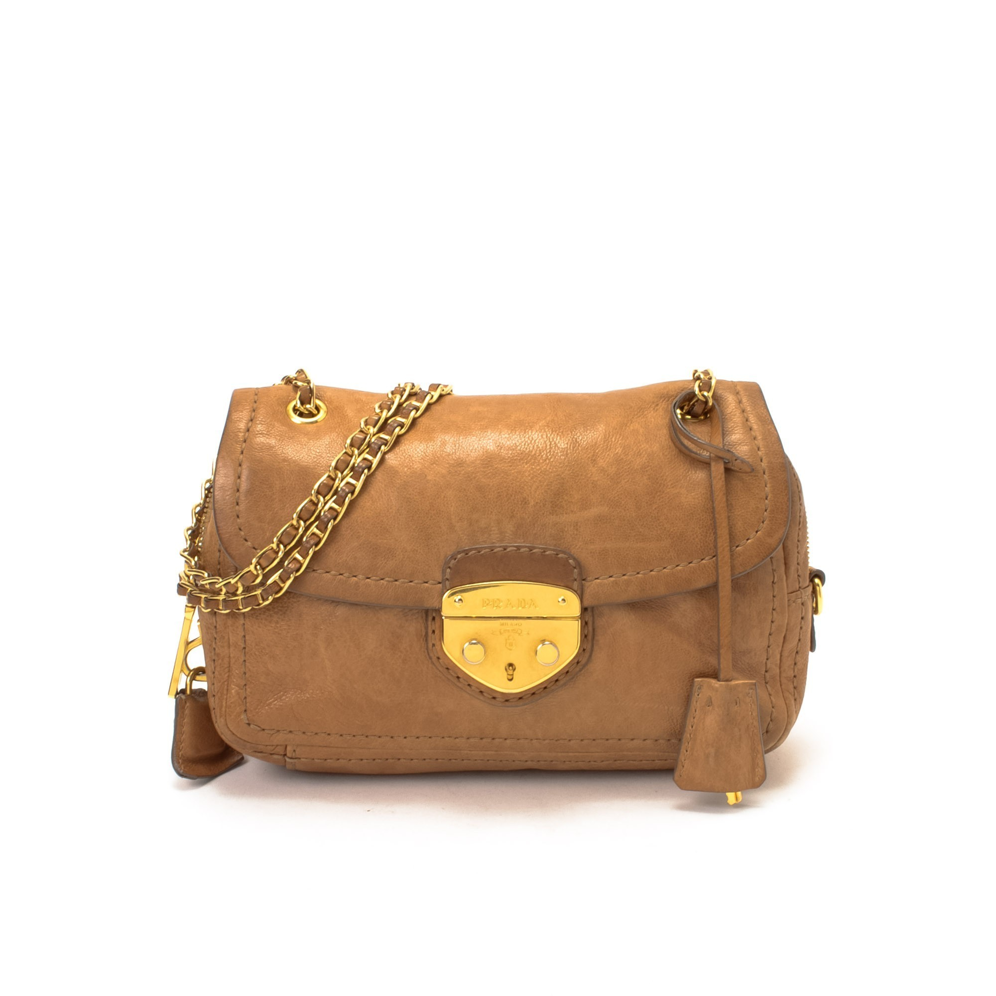 Prada Bag Beige Prada Chain Crossbody Bag