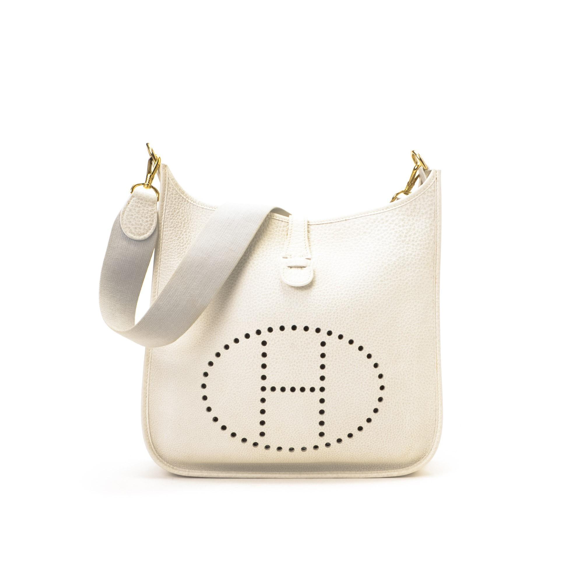 Herm¨¨s Hermes Evelyne Evelyne GM White Buffalo Shoulder Bag ...