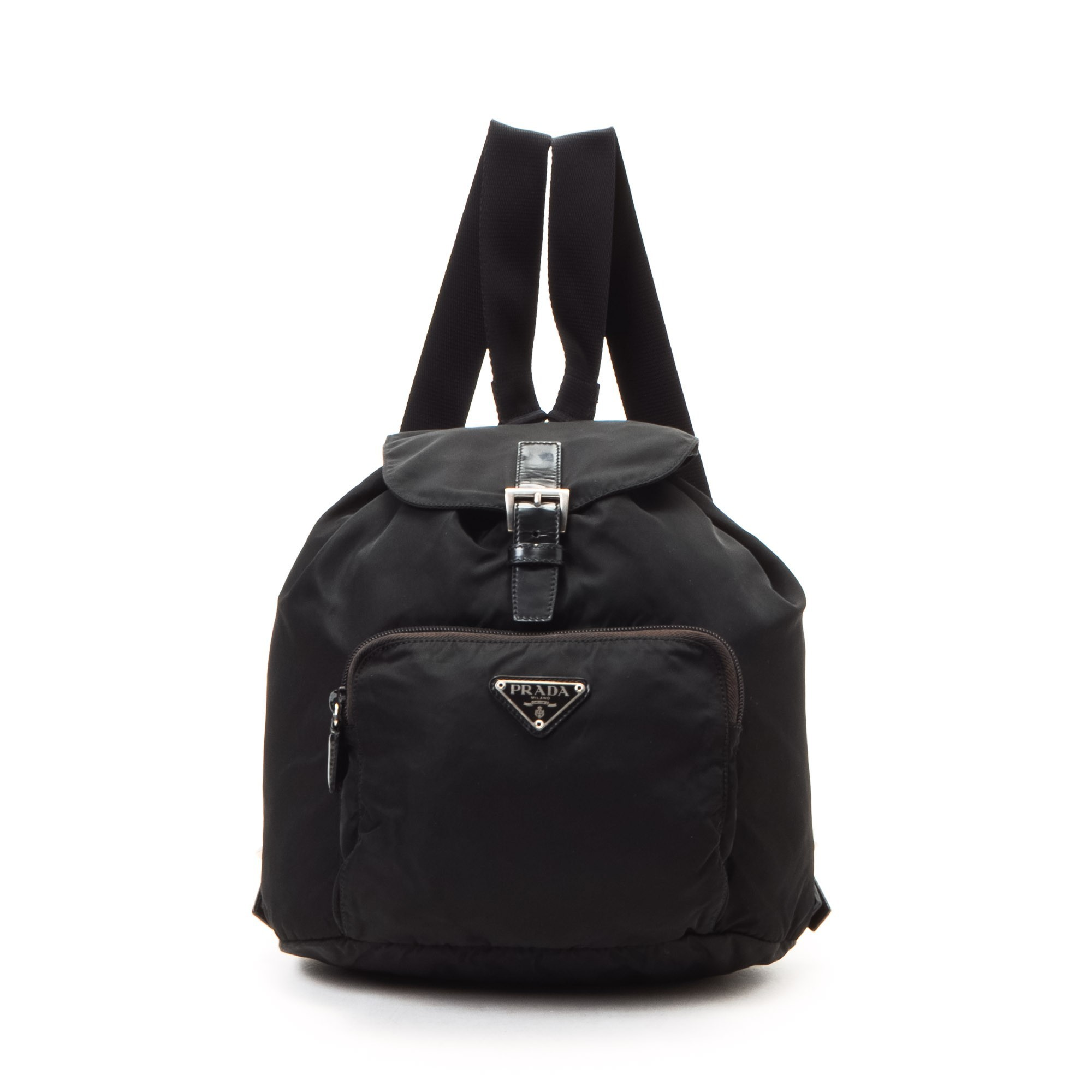 Prada Tessuto Backpack Black Nylon Travel Bag - LXR\u0026amp;CO Vintage Luxury
