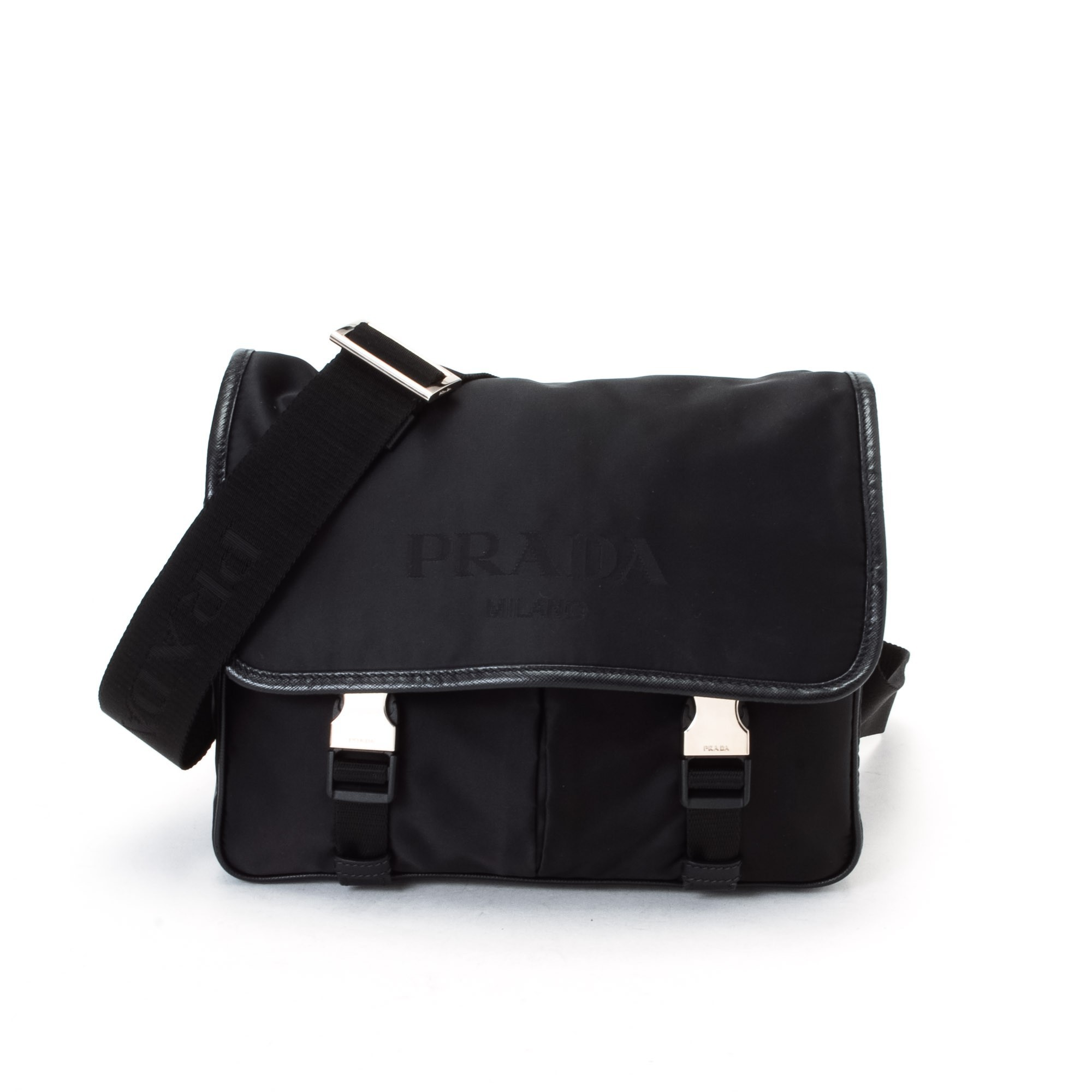 prada black tote bag nylon - Prada Tessuto Shoulder Bag Black Nylon Shoulder Bag - LXR\u0026amp;CO ...