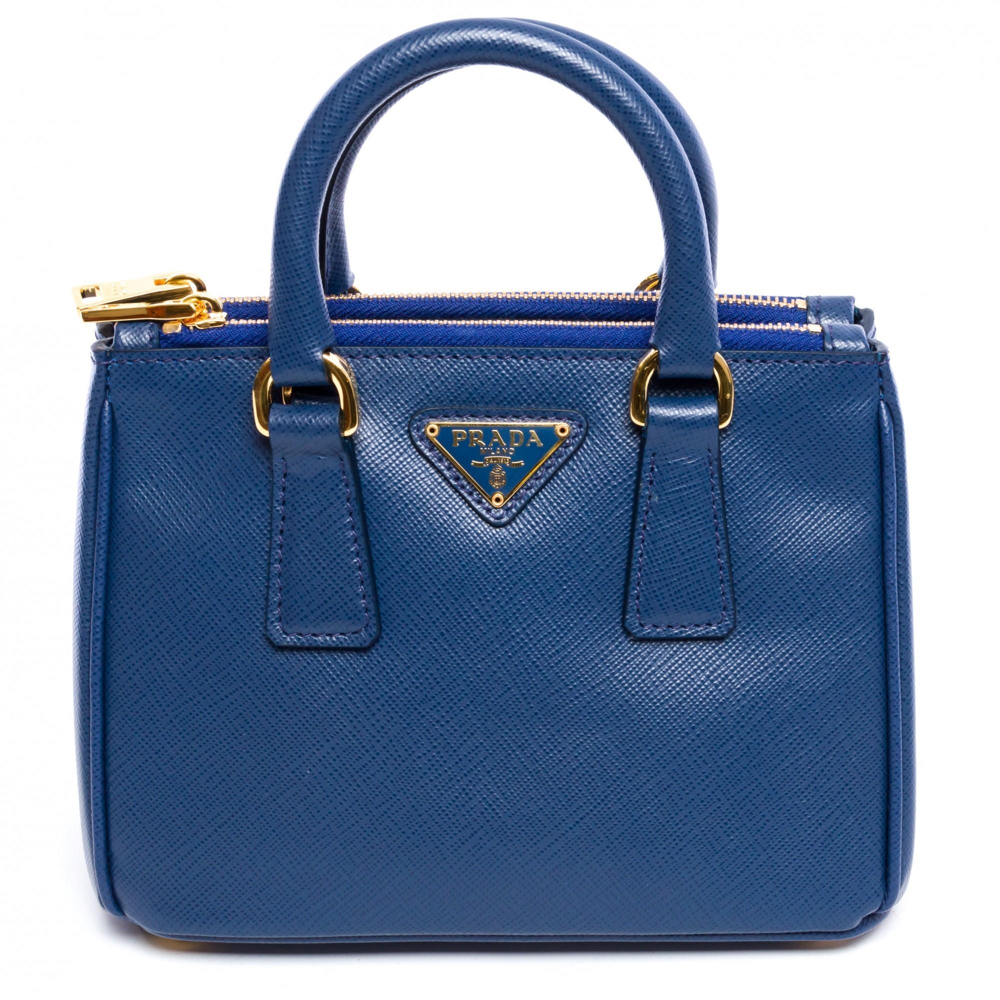 prada bags sale online - Prada Saffiano Mini Galleria 1BH907 Bluette Saffiano Blue Leather ...