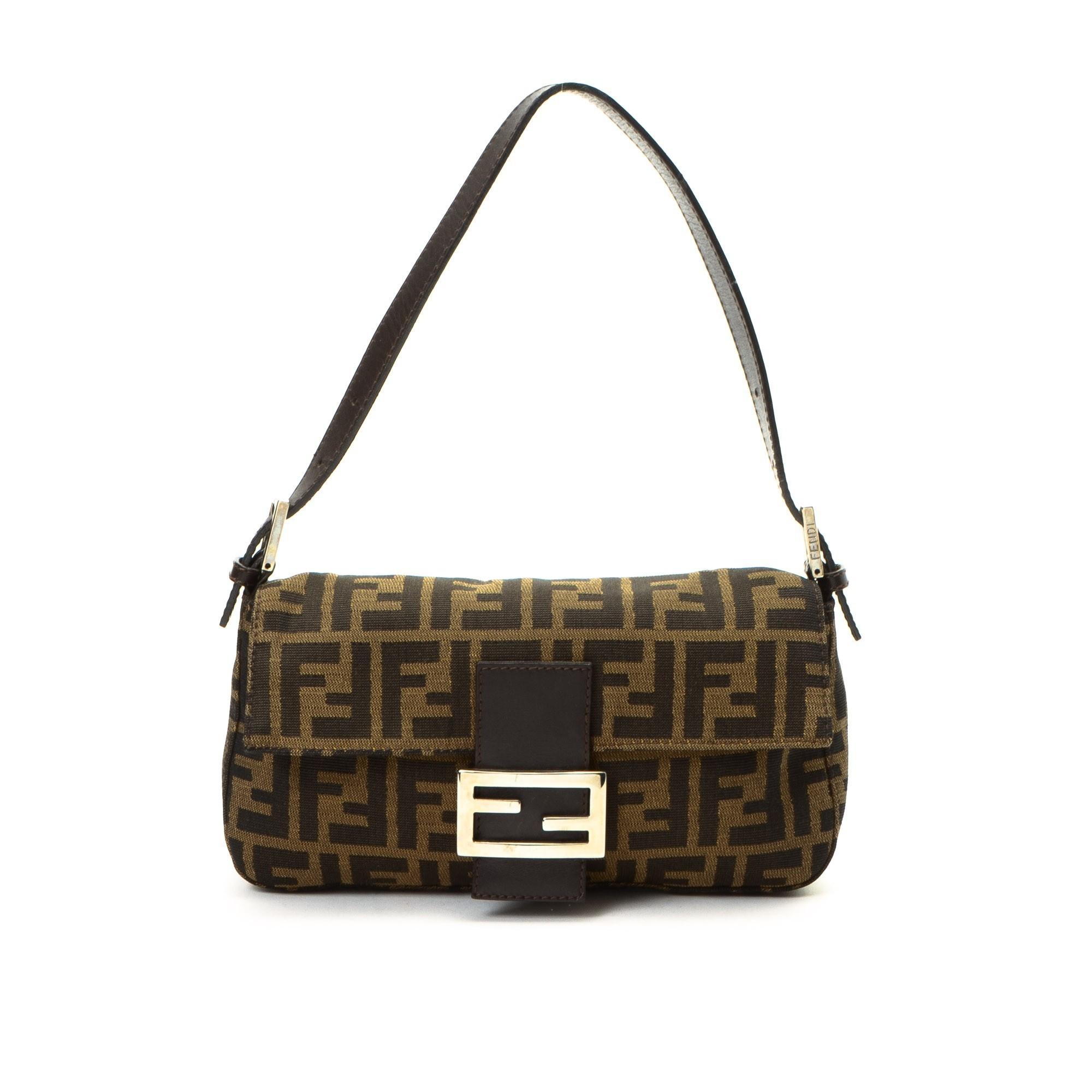 Buy Canvas Fendi Shoulder Bag at LXR&CO