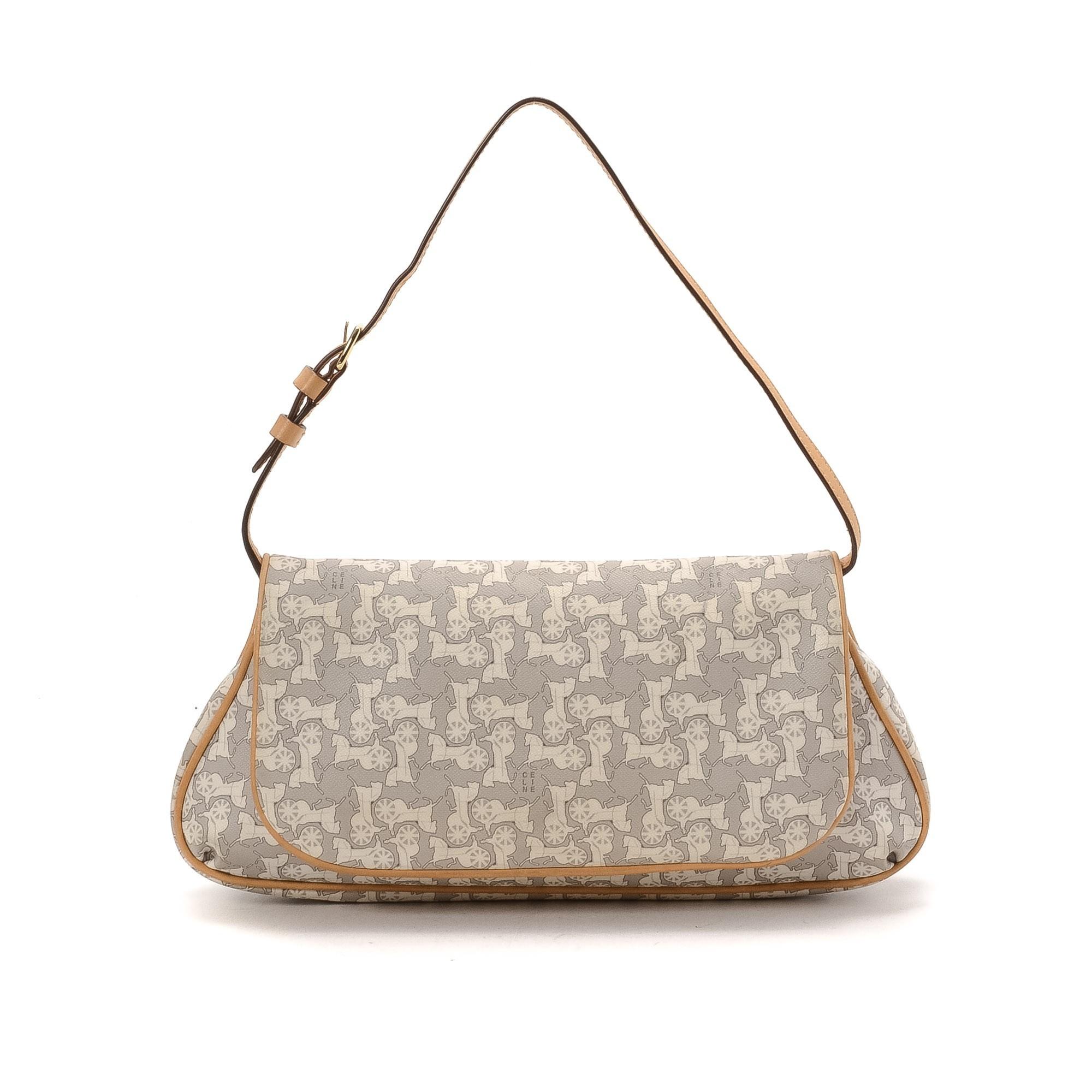 best celine replica - celine coated canvas shoulder bag, celine leather bags