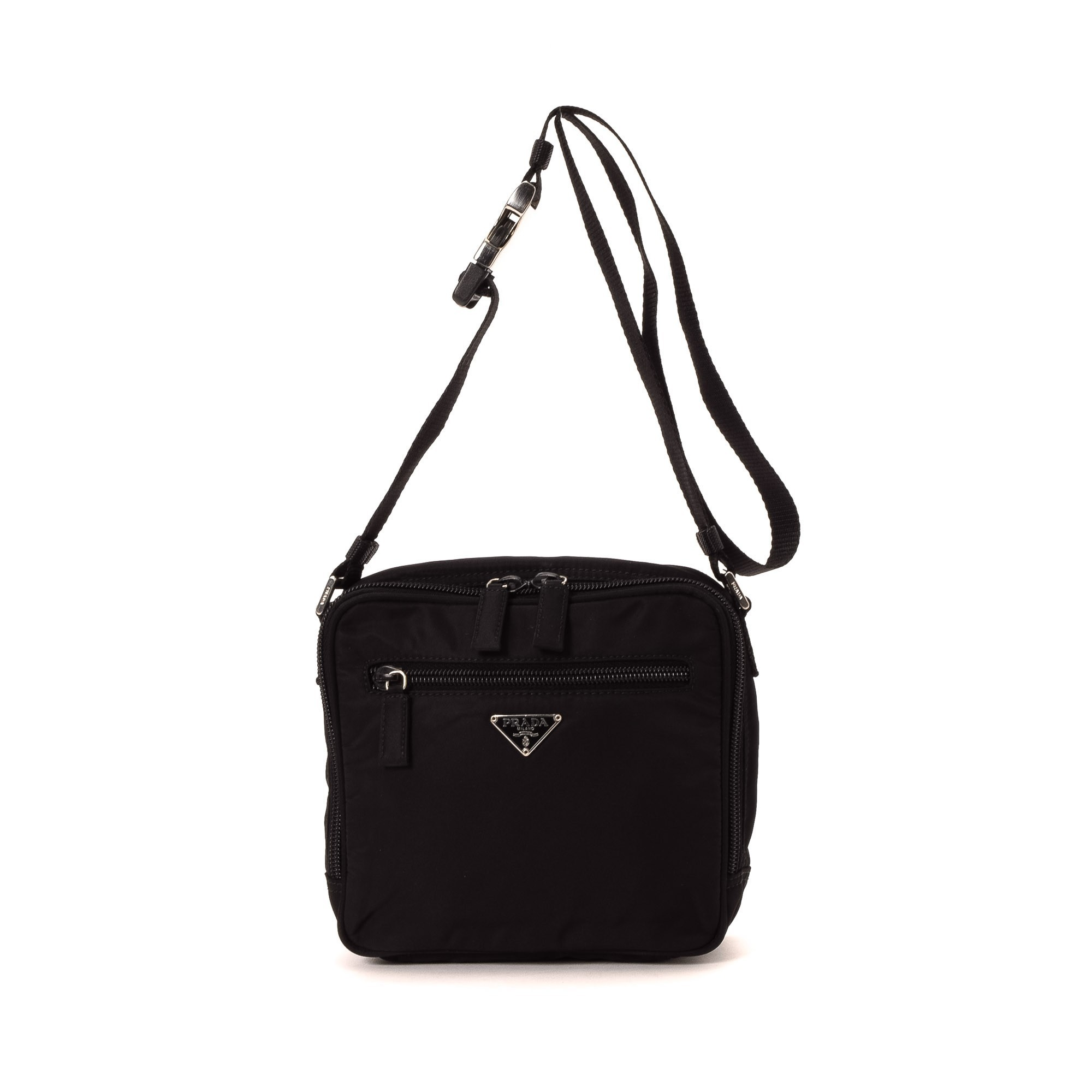 Prada Shoulder Bag Nylon Black Handbag Prada