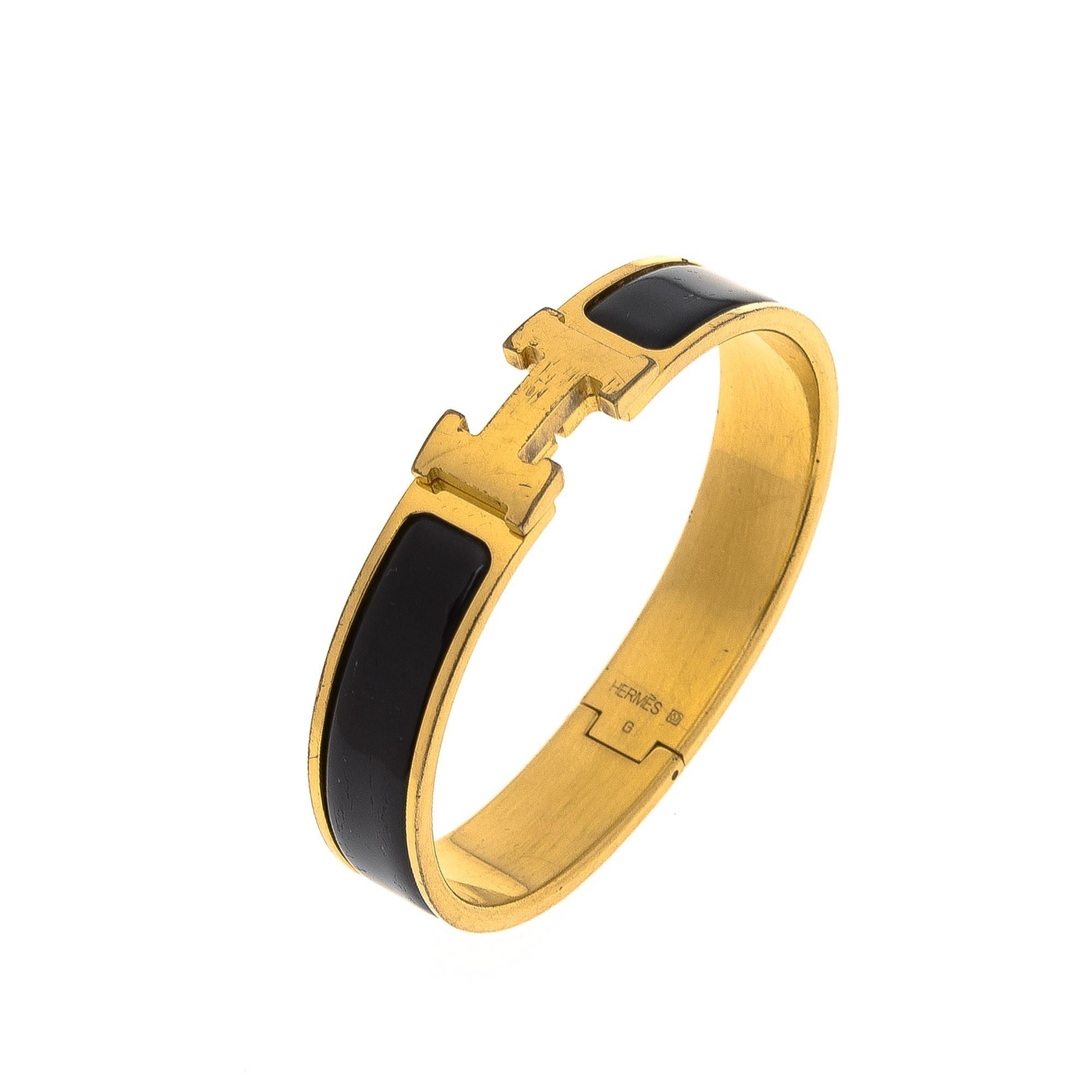herm 232 s clic clac h bracelet black palladium plated on brass bracelet bangle lxr co vintage