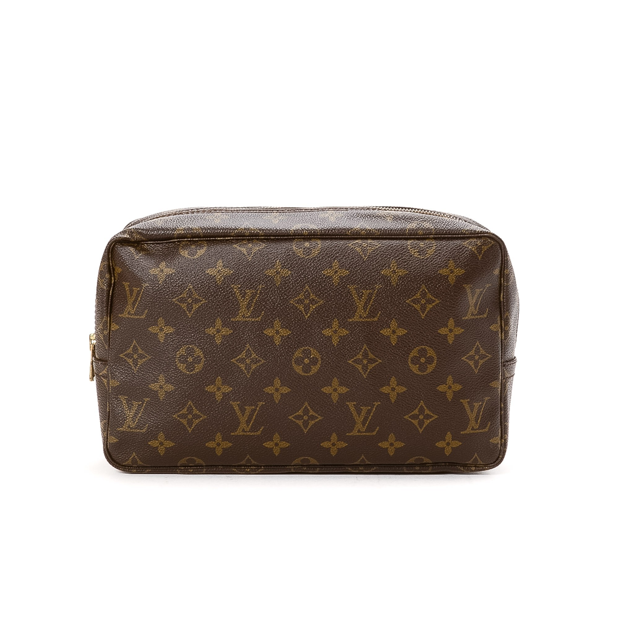 louis vuitton trousse de toilette 28 monogram brown coated canvas vanity pouch lxr co