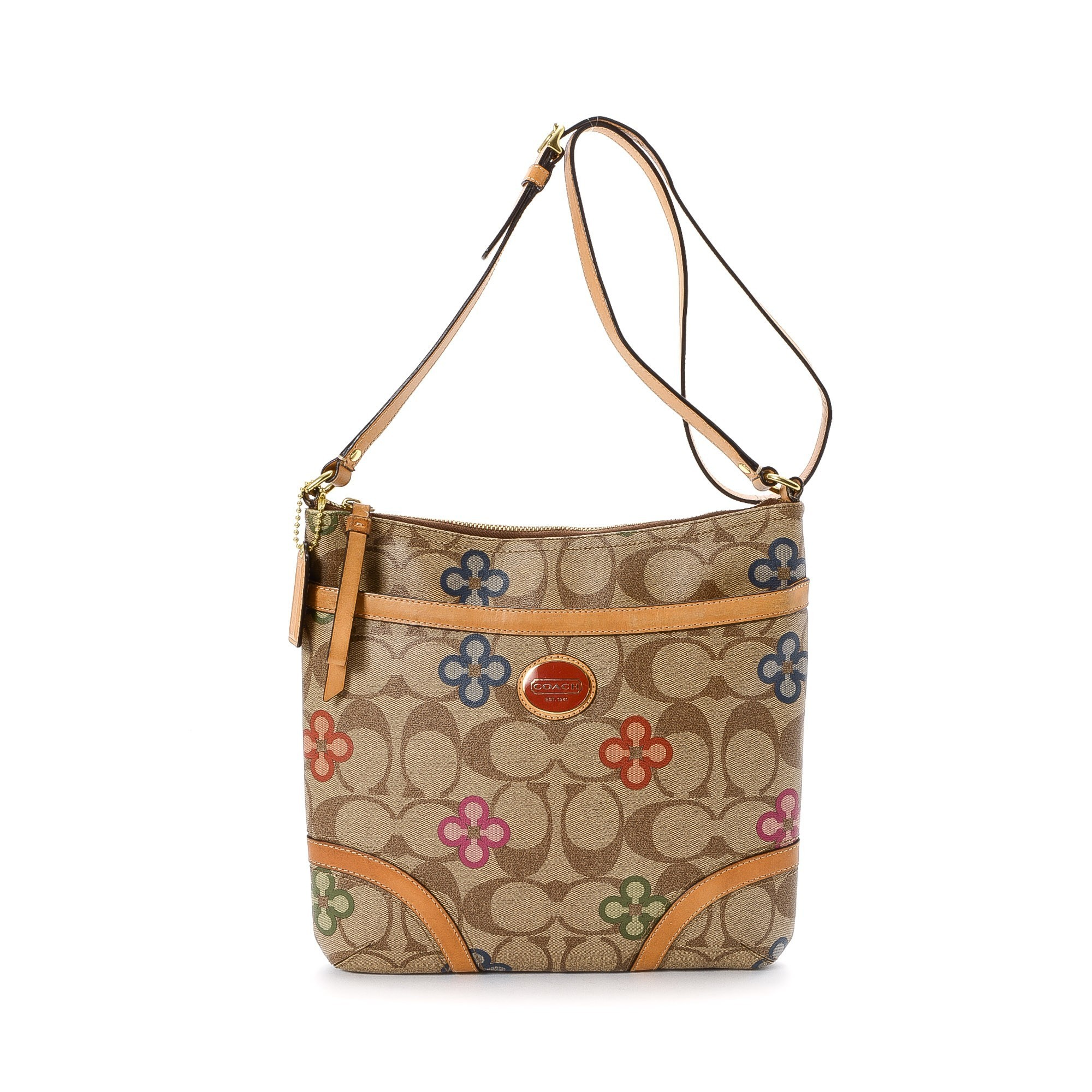 Buy Beige Coated Canvas Coach Messenger U0026 Crossbody Bag At LXRu0026CO