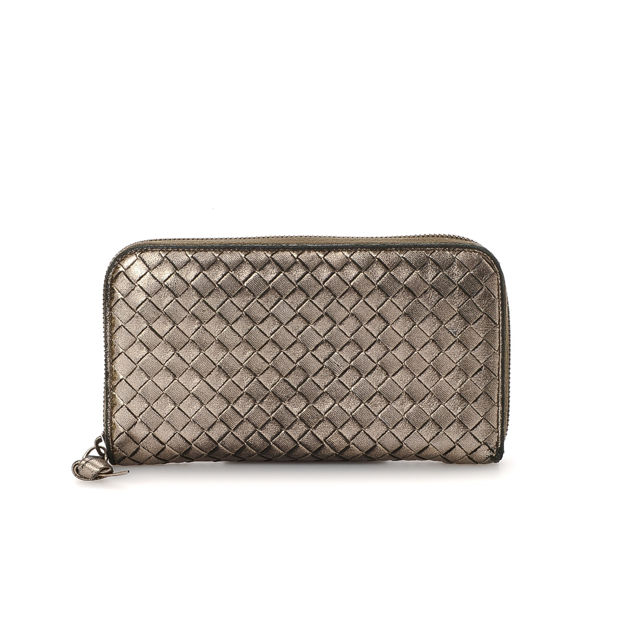 buy silver leather bottega veneta wallet at lxr co. Black Bedroom Furniture Sets. Home Design Ideas