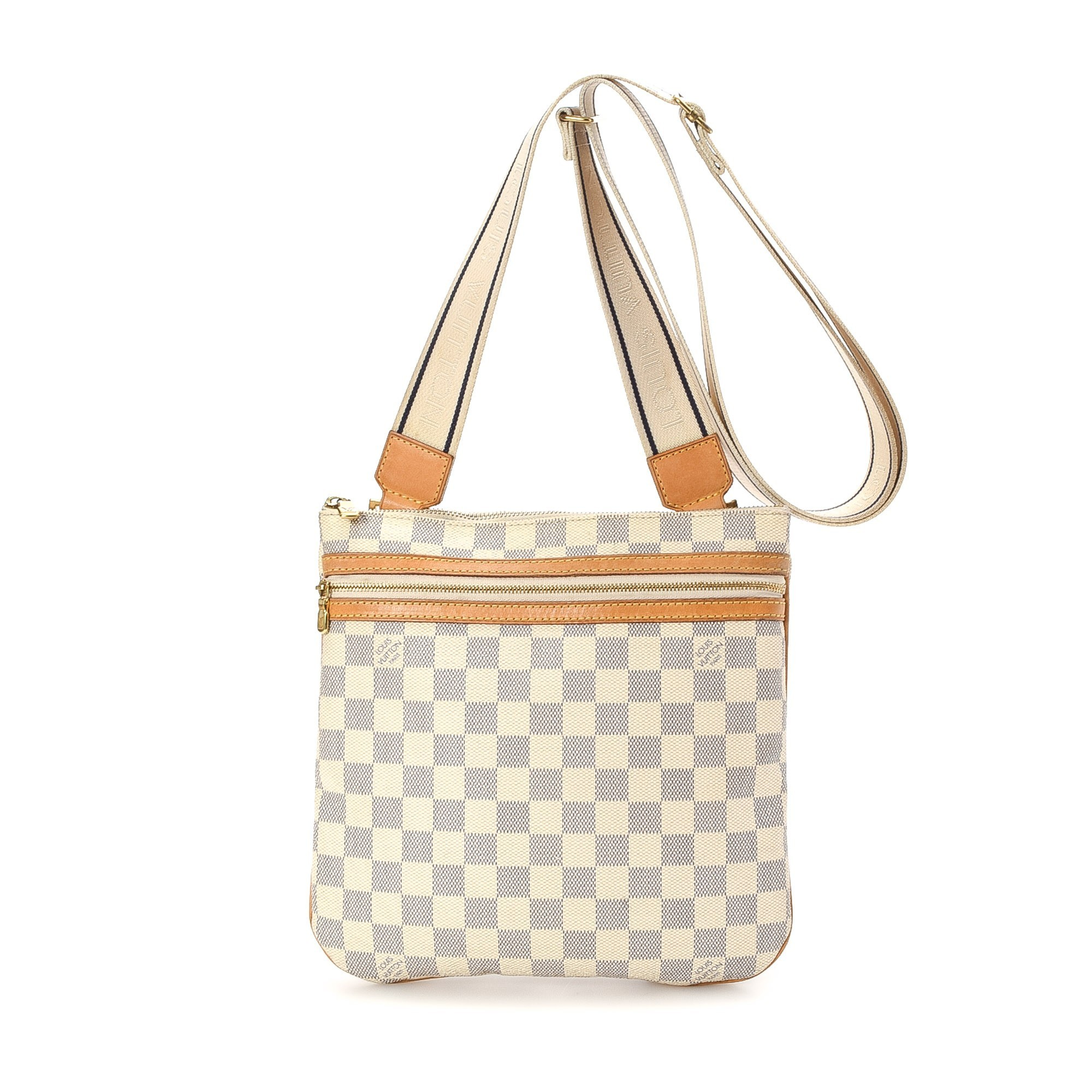 Louis Vuitton White Damier Crossbody Bag Travel Diaper Bag