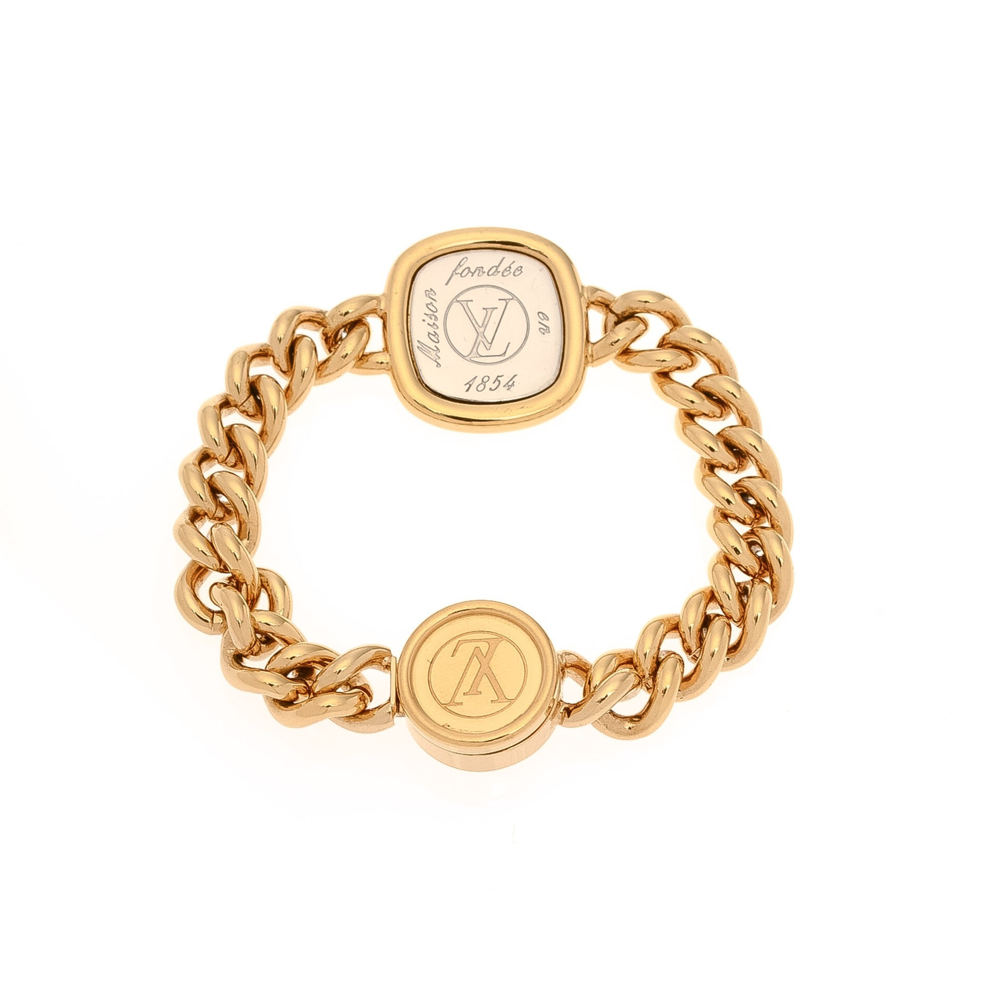 buy gold palladium plated on brass louis vuitton bracelet