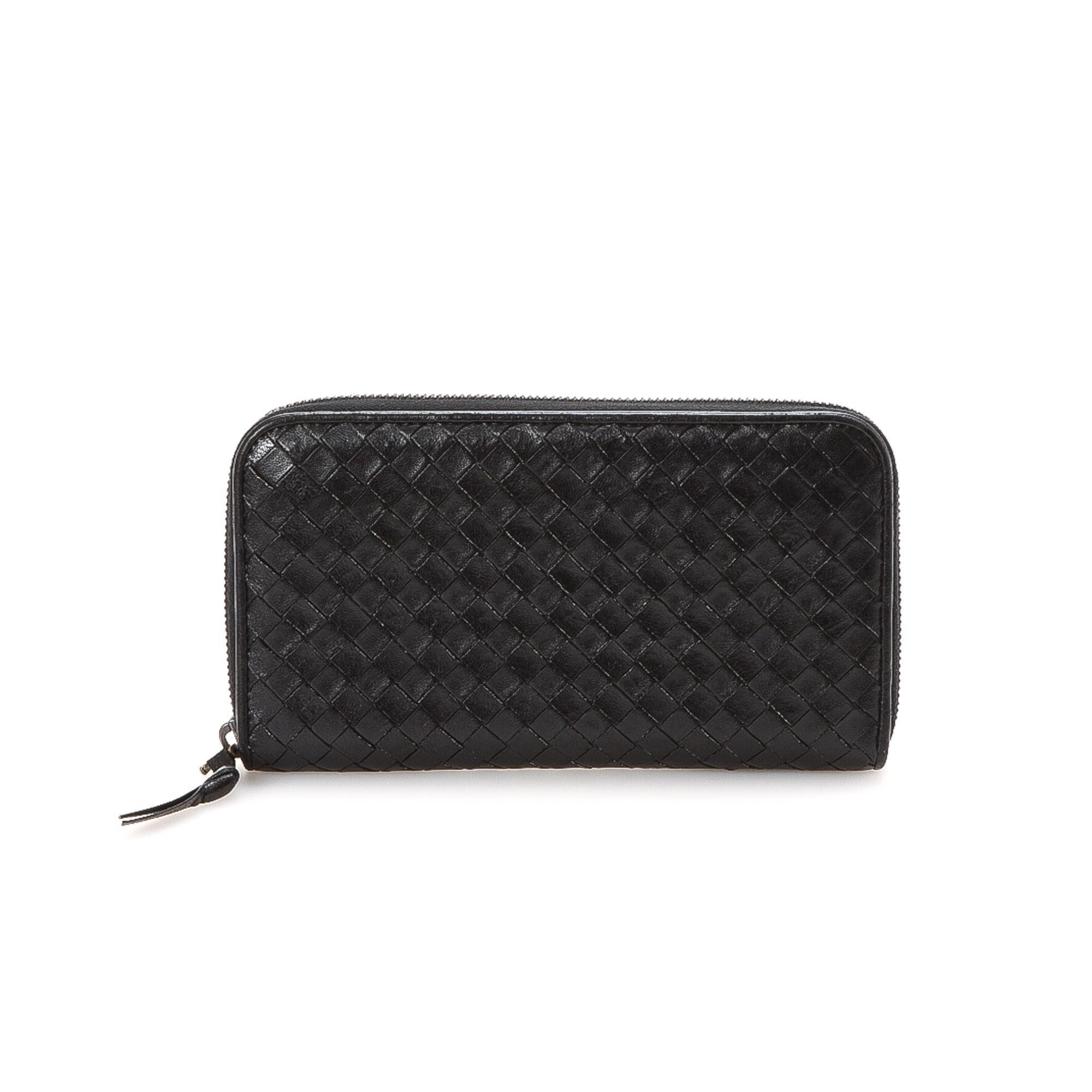 buy black leather bottega veneta wallet at lxr co. Black Bedroom Furniture Sets. Home Design Ideas