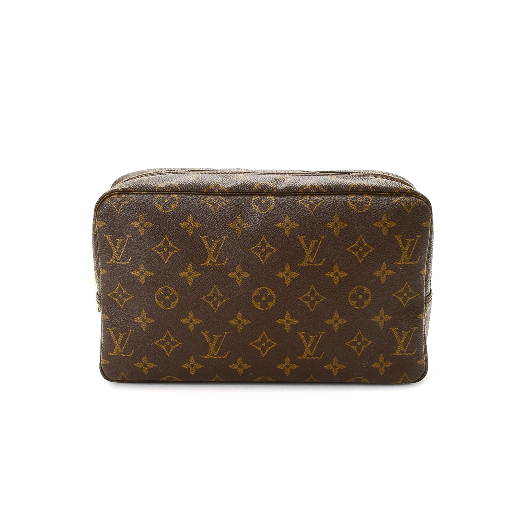 buy brown coated canvas louis vuitton vanity pouch at lxr co