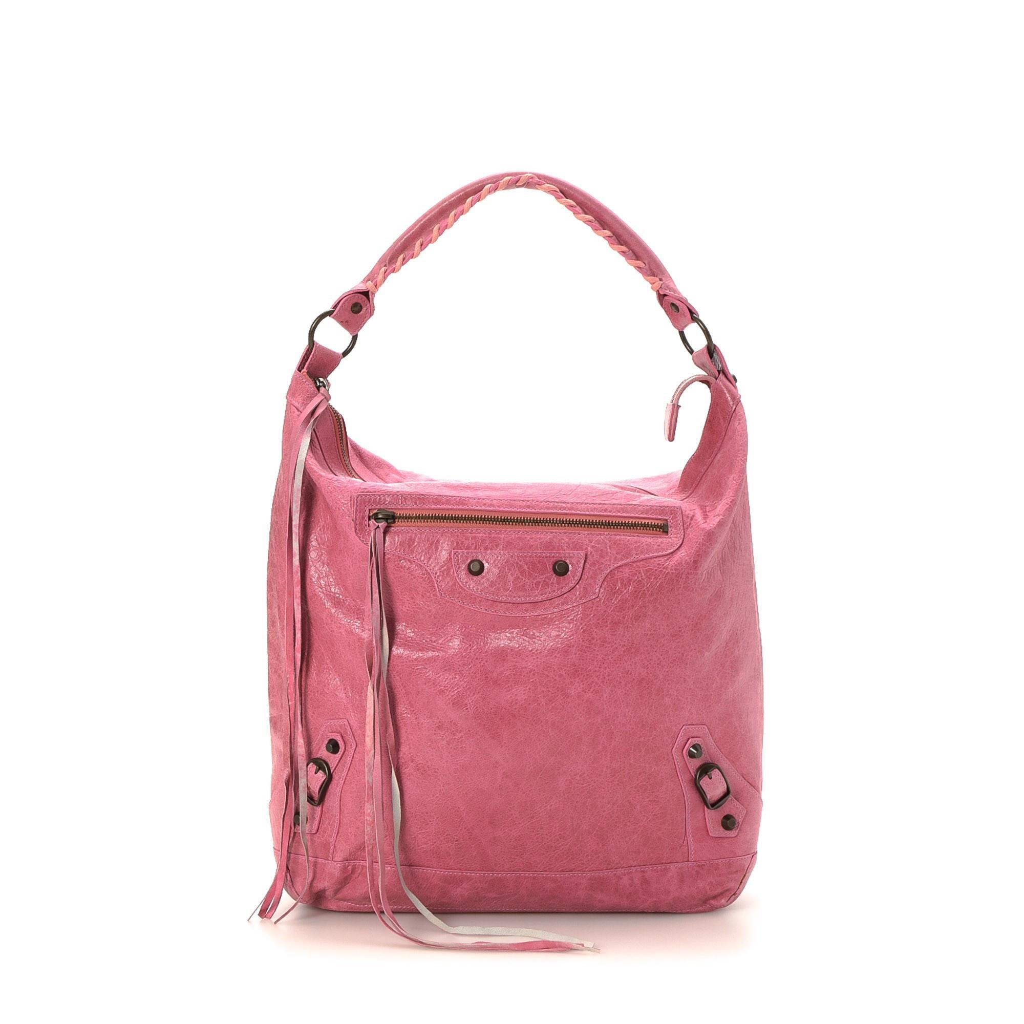 Balenciaga Day Pink Lambskin Shoulder Bag LXRCO