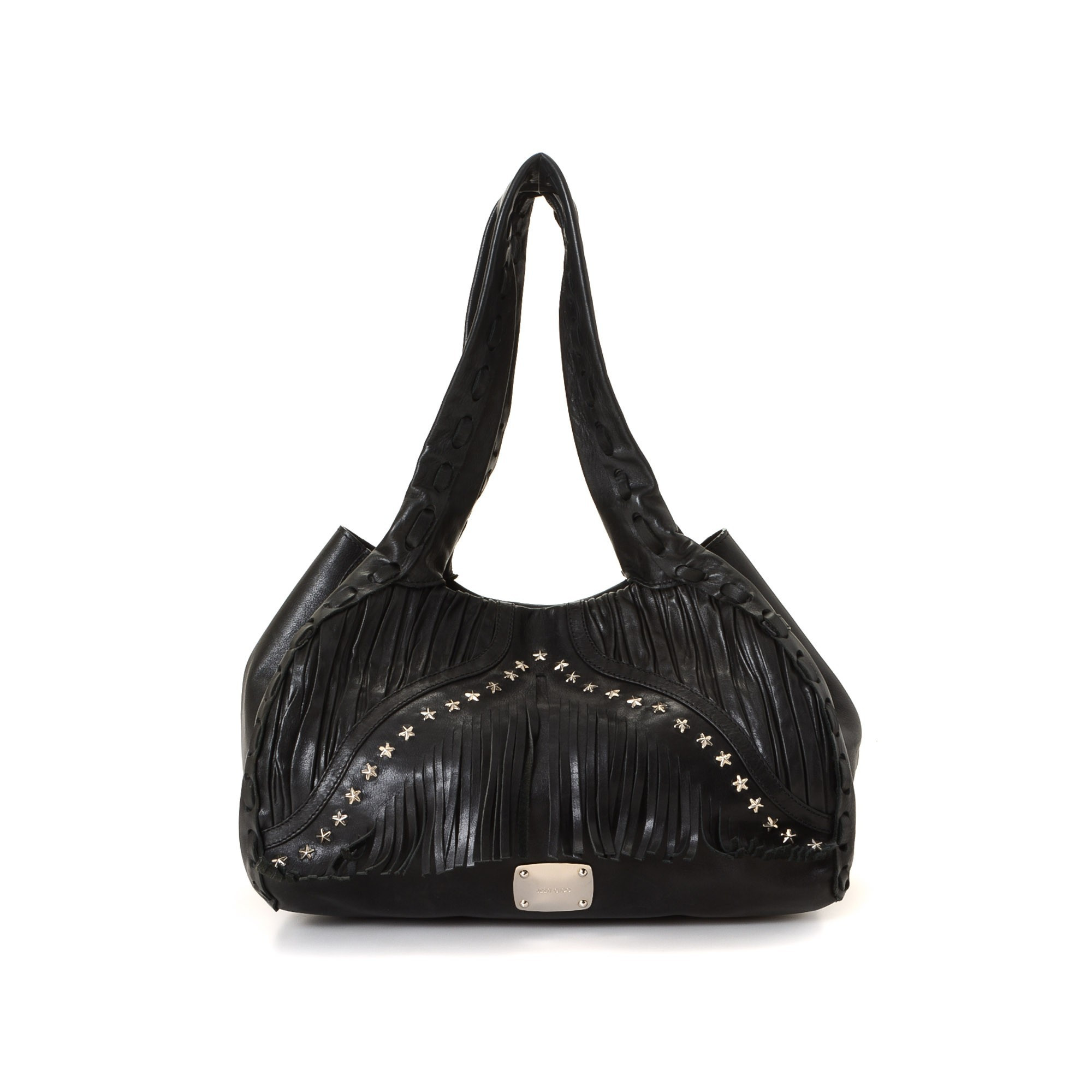 Jimmy Choo Star Hobo Bag Black Leather Shoulder Bag LXRCO