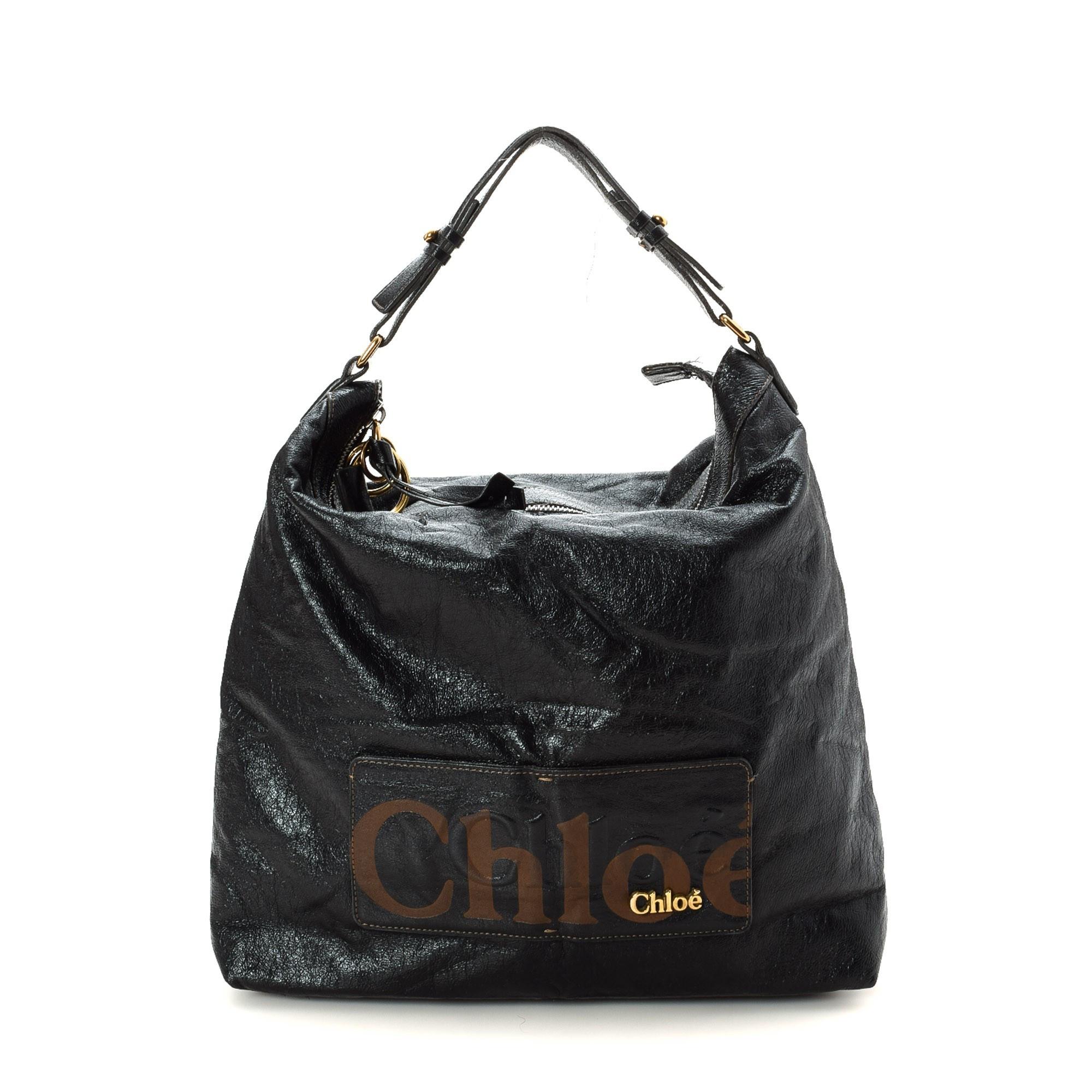 Chloé Eclipse Hobo Black Leather Shoulder Bag LXRCO