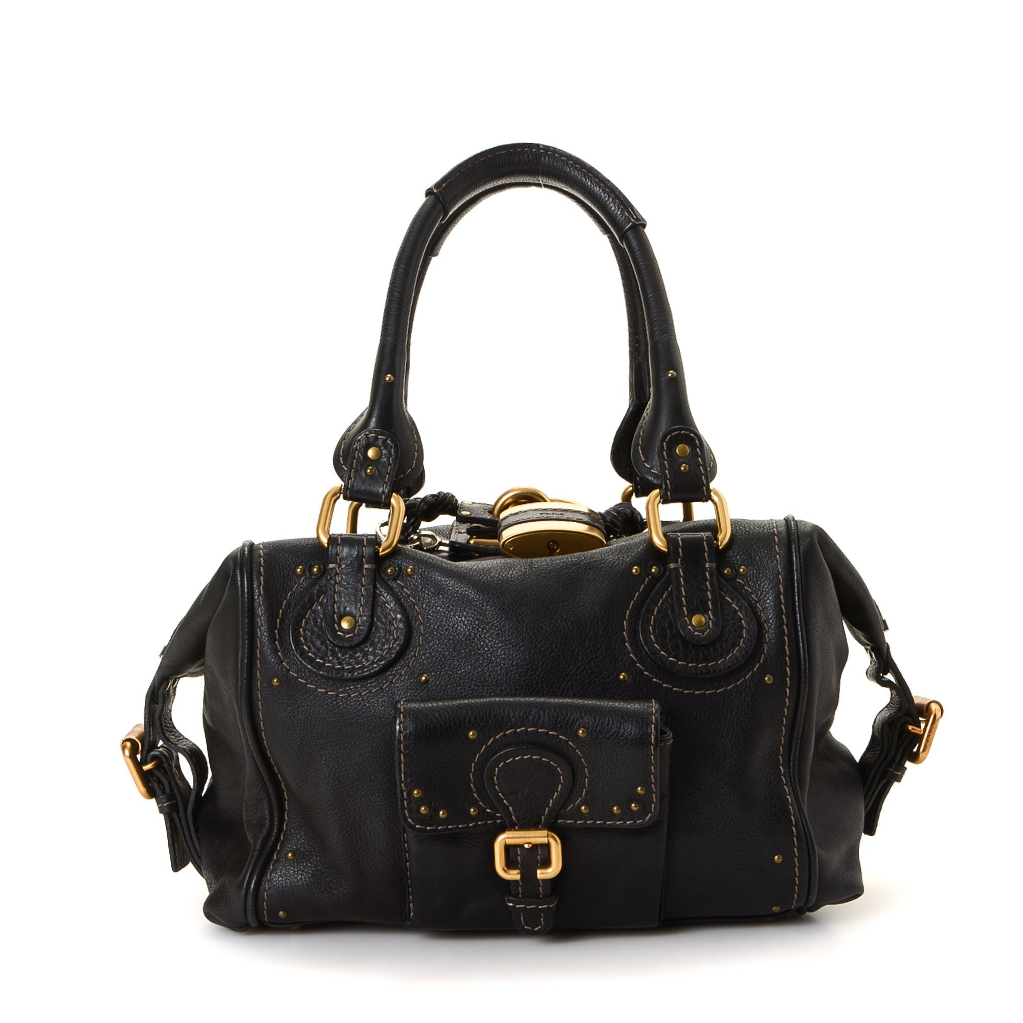 Chloé Paddington Bag Black Leather Shoulder Bag LXRCO