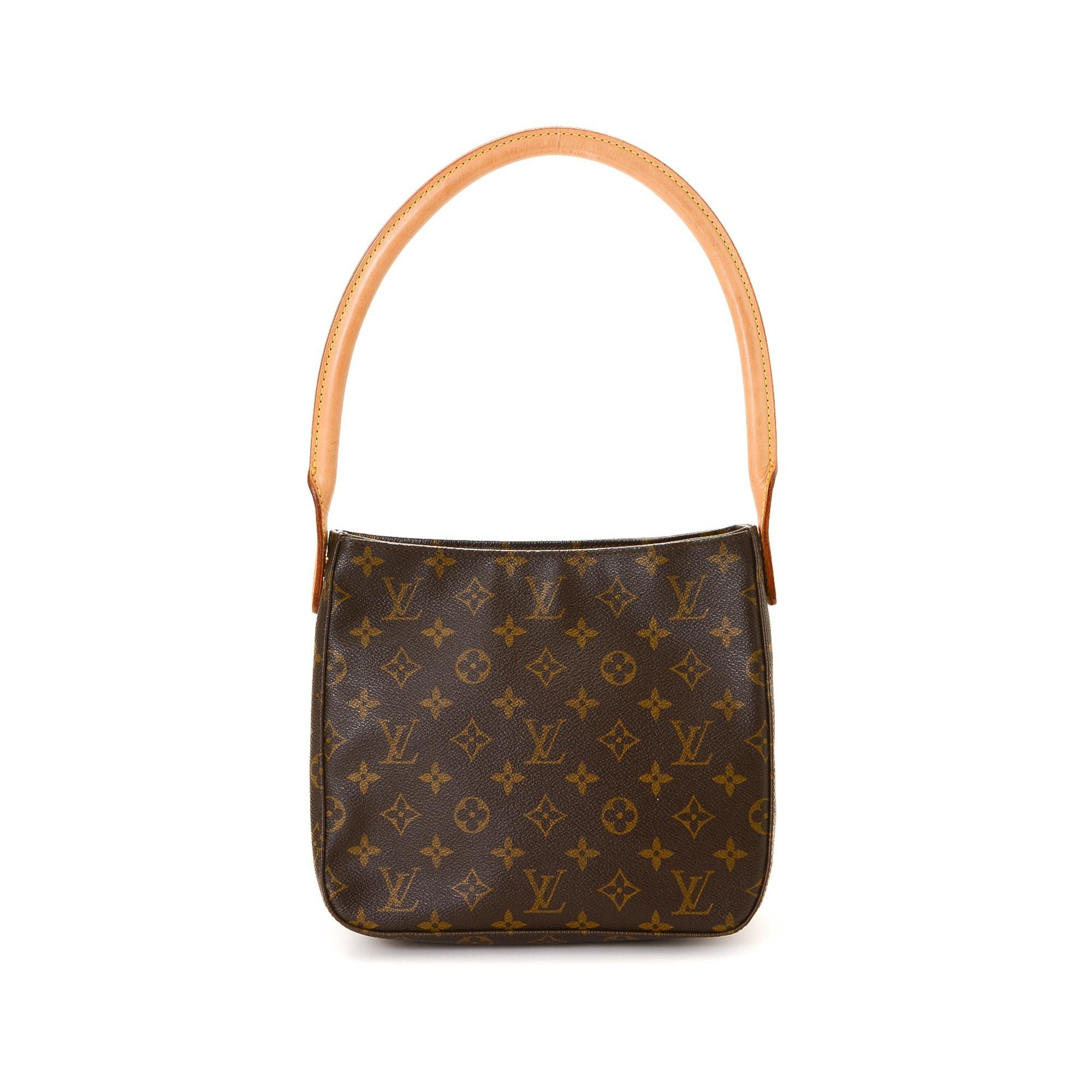 Louis Vuitton Looping MM Monogram Brown Coated Canvas Shoulder Bag LXRCO