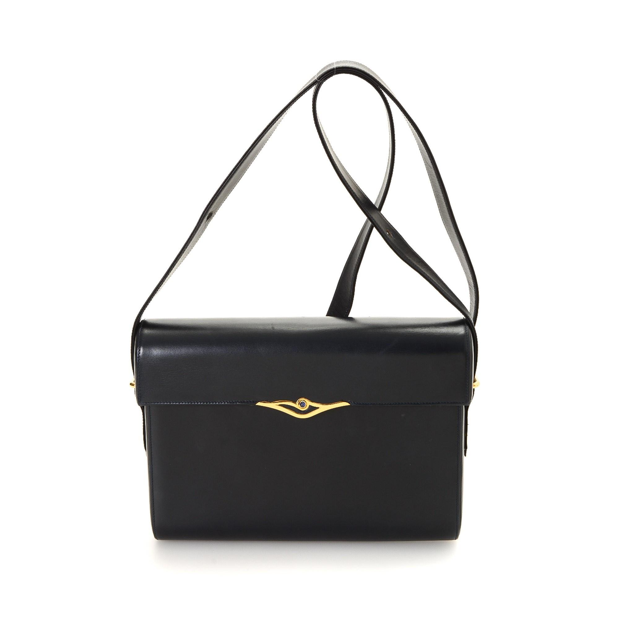 Cartier S de Cartier Shoulder Bag Box Calf Black Box Calf Shoulder Bag LXRCO