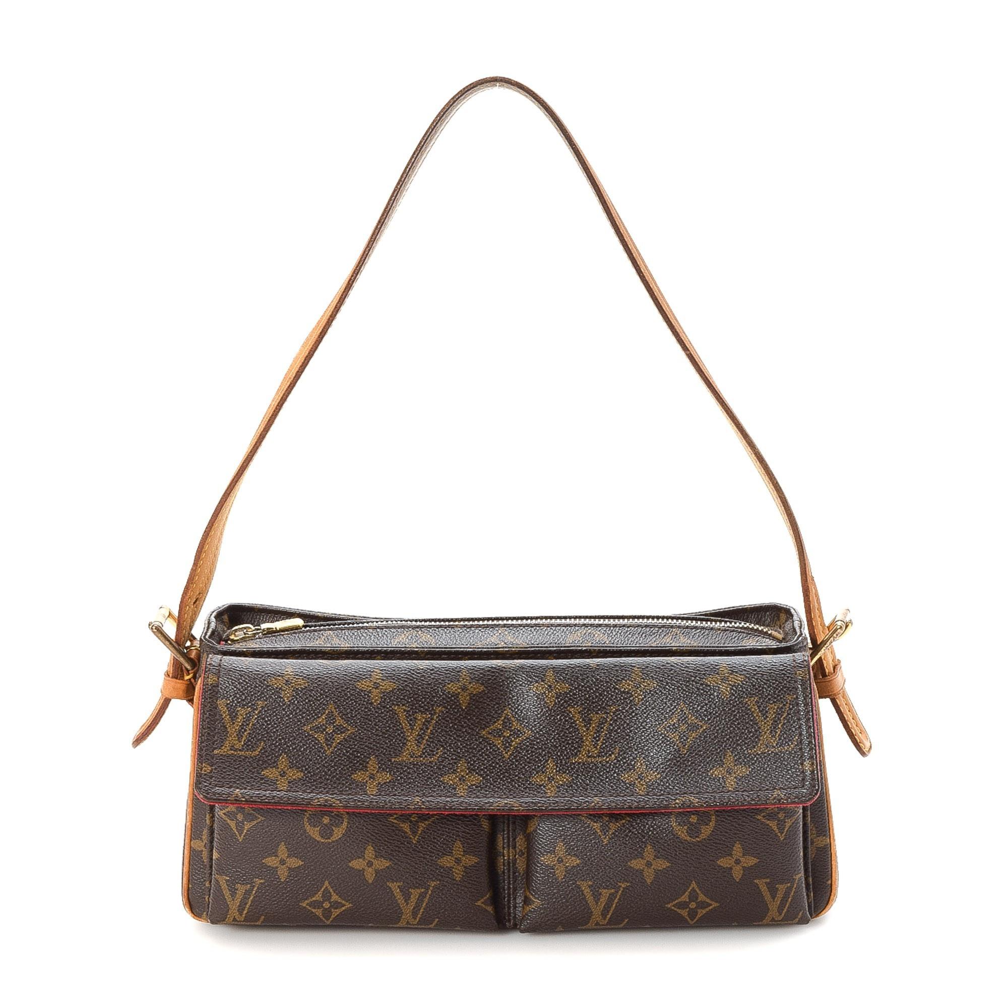 Louis Vuitton Viva-cite MM Monogram Brown Coated Canvas Shoulder Bag LXRCO