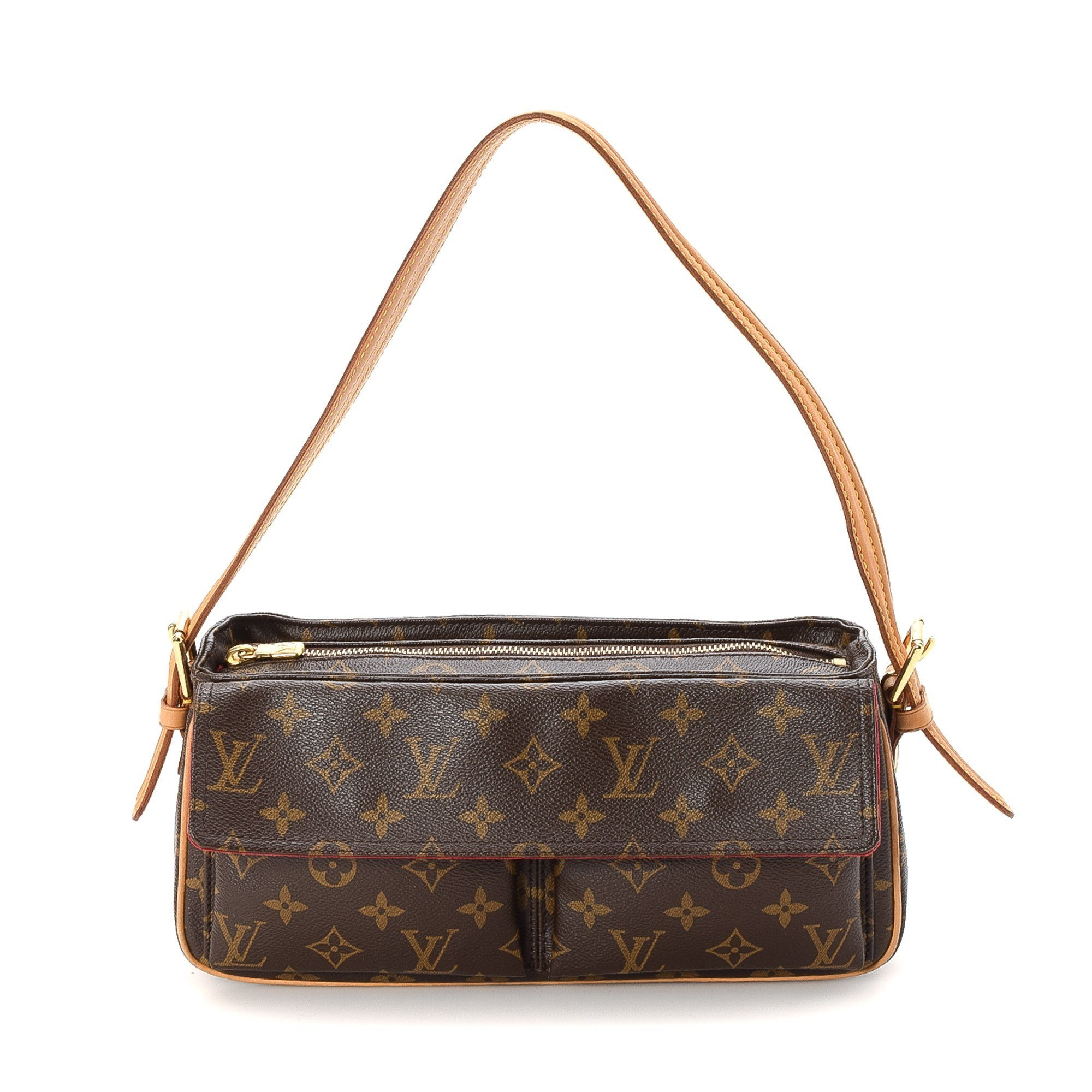 Louis Vuitton Viva-cite MM Monogram Brown Coated Canvas Shoulder Bag LXRCO