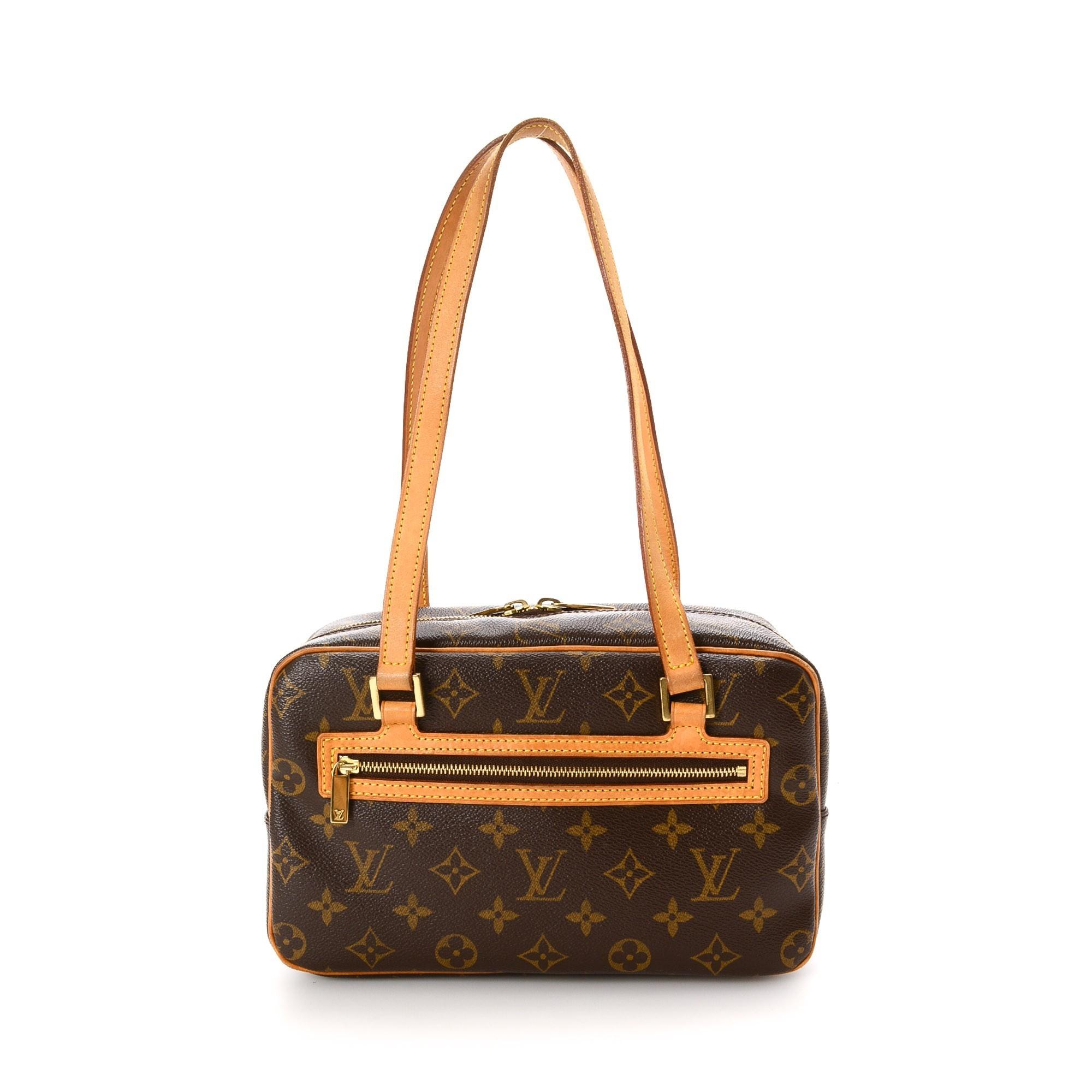 Louis Vuitton Cite MM Monogram Brown Coated Canvas Shoulder Bag LXRCO