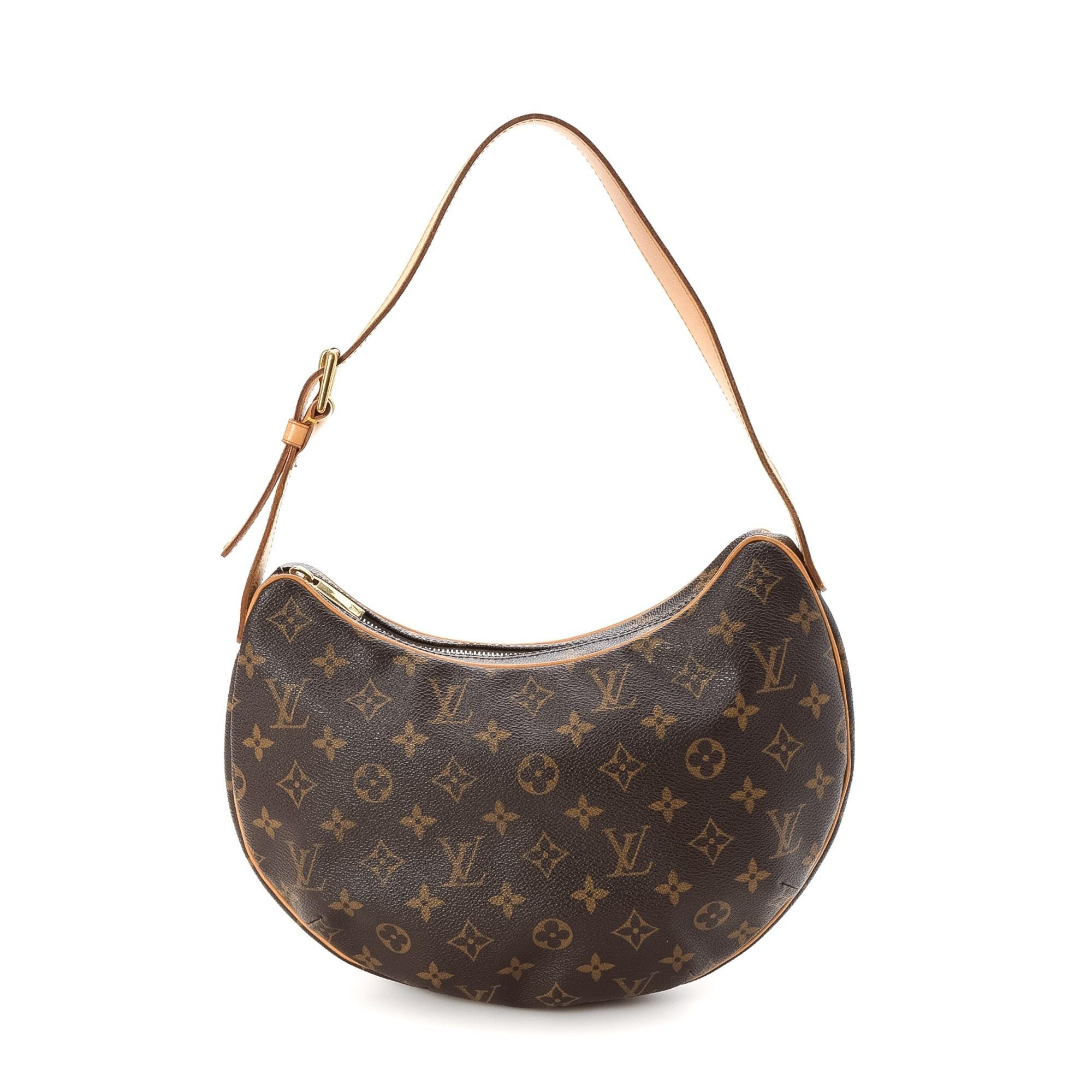 Louis Vuitton Croissant MM Monogram Brown Coated Canvas Shoulder Bag LXRCO