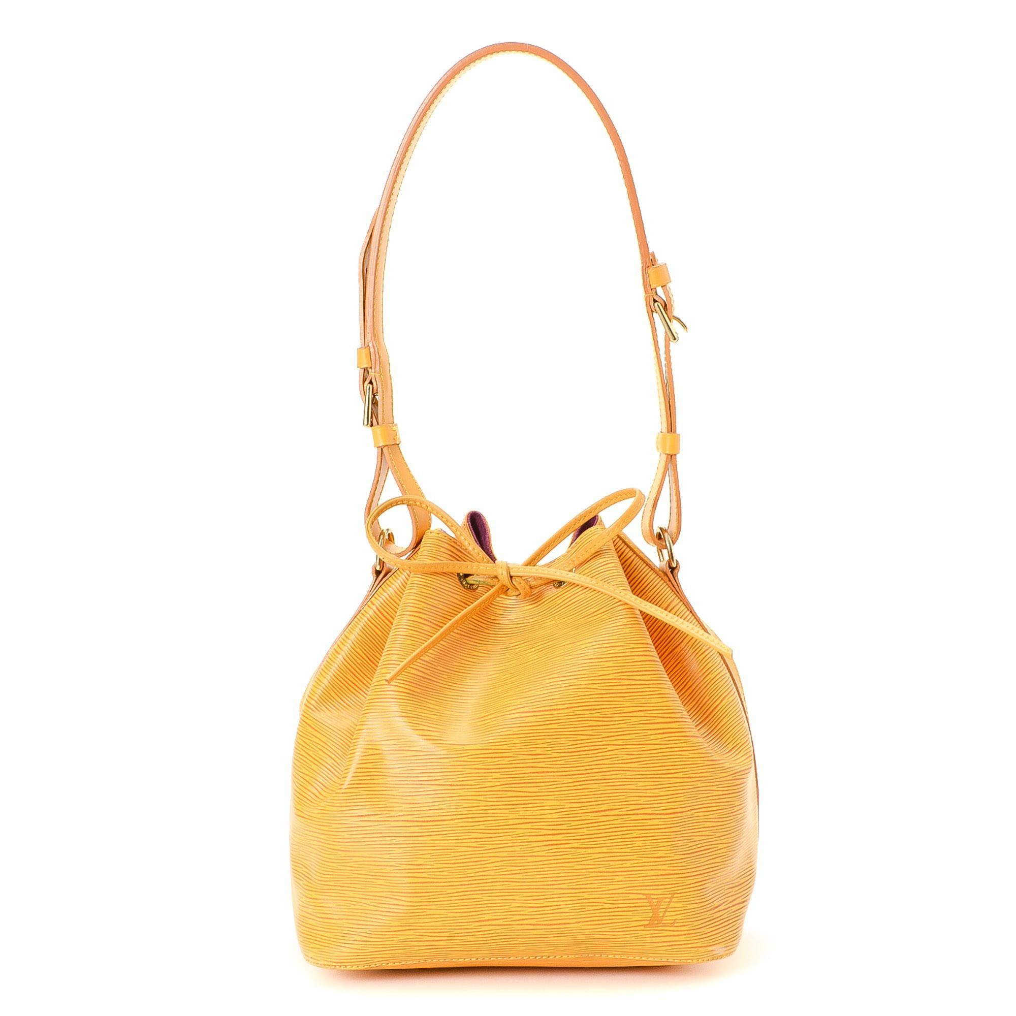 Louis Vuitton Petit Noe Epi Tassil yellow Leather Shoulder Bag LXRCO