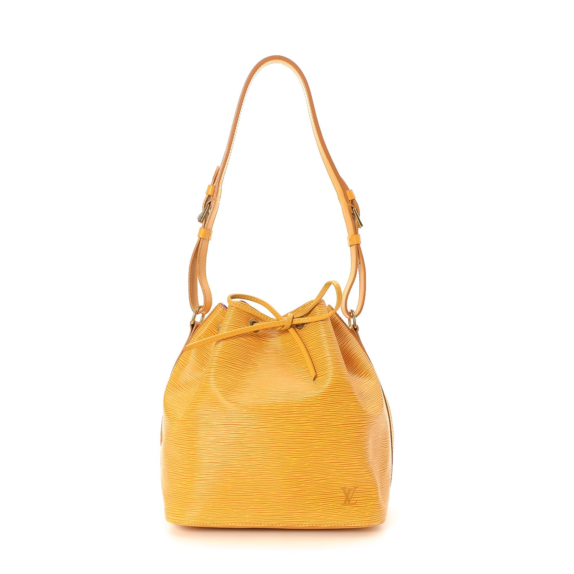 Louis Vuitton Petit Noe Epi Tassil yellow Leather Shoulder Bag LXRCO