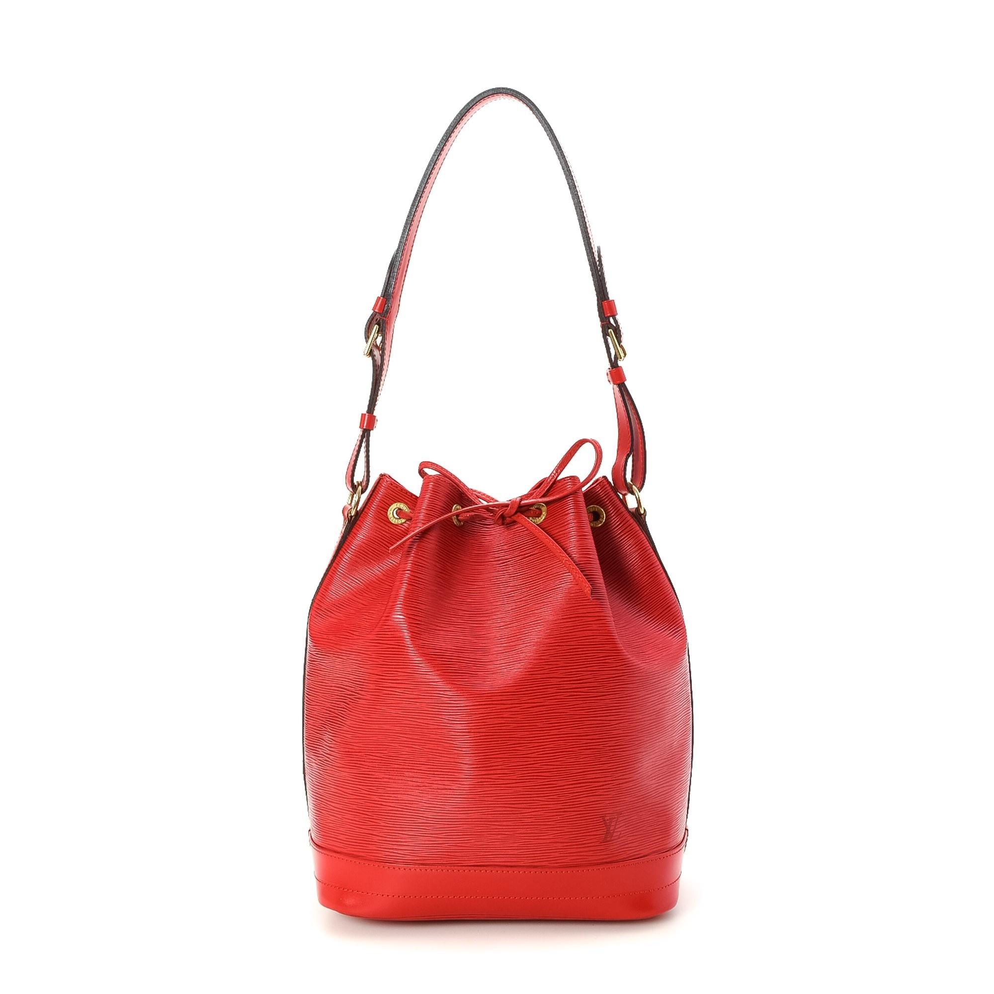 Louis Vuitton Noe Epi Red Leather Shoulder Bag LXRCO