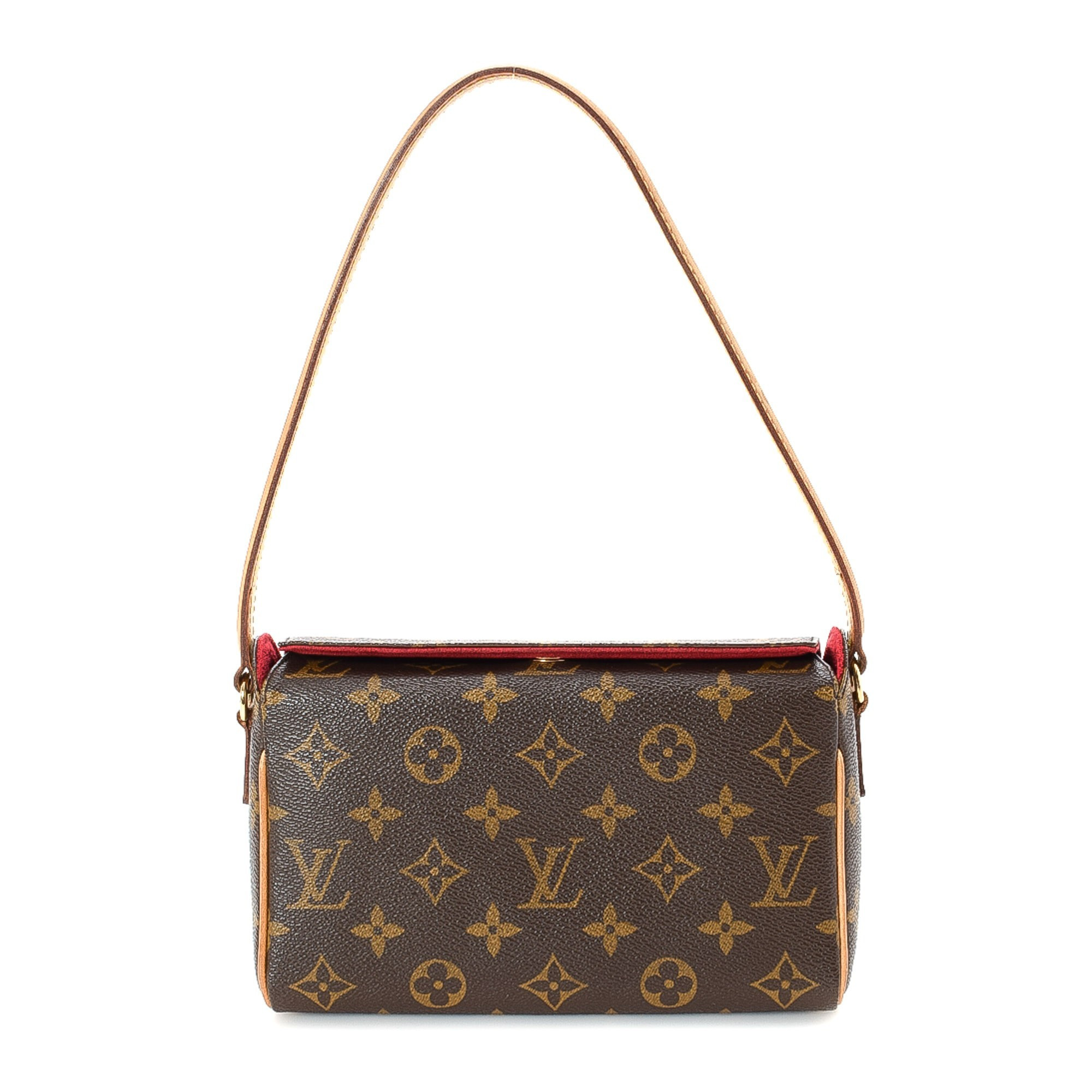 Louis Vuitton Recital Monogram Brown Coated Canvas Shoulder Bag LXRCO