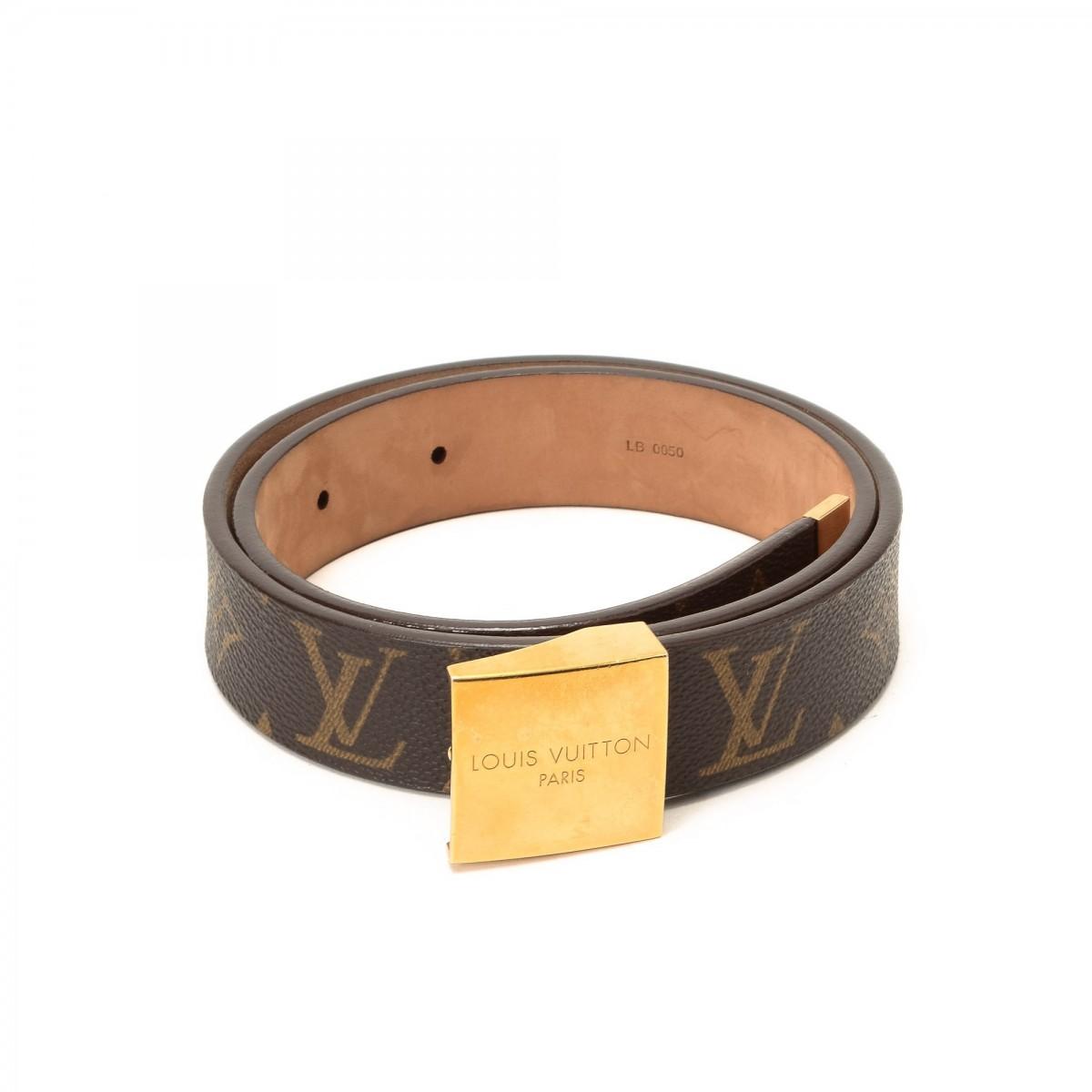 Louis Vuitton Belt Monogram Coated Canvas - LXRandCo - Pre ...