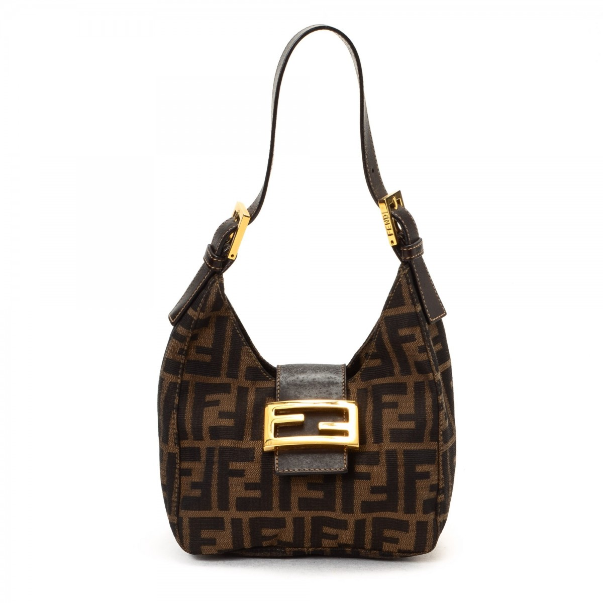 Fendi Mini Hobo Bag Canvas - LXRandCo - Pre-Owned Luxury Vintage