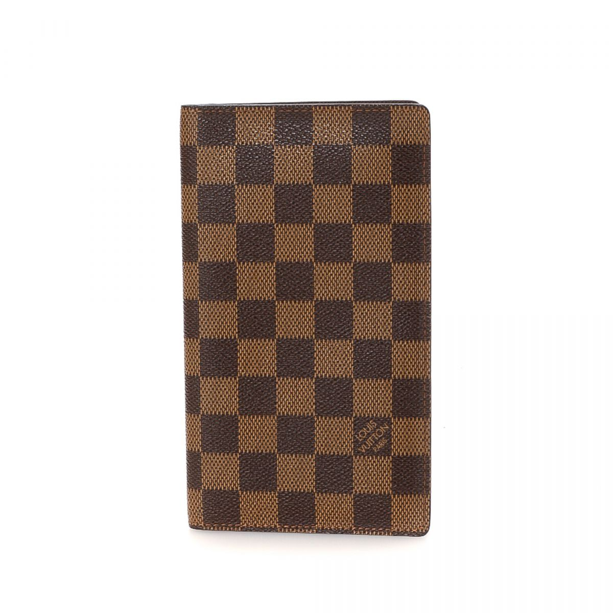louis vuitton porte chequier wallet damier ebene coated canvas lxrandco pre owned luxury vintage