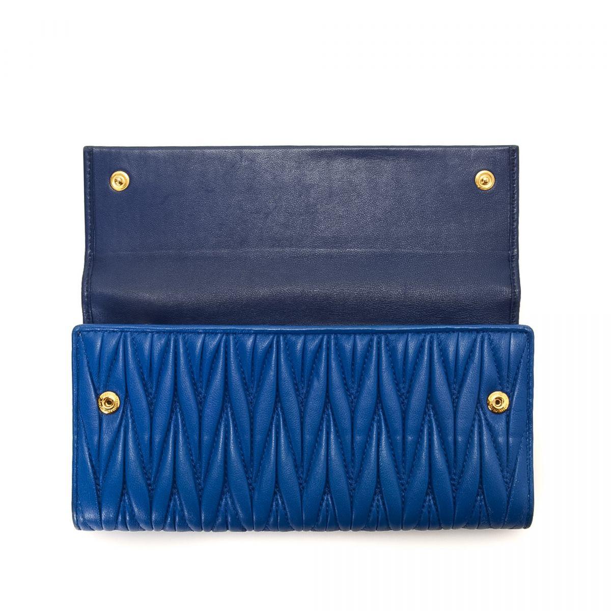 Miu Miu Wallet Blue