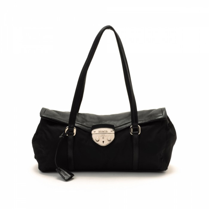 buy fake prada bags online - Prada Shoulder Bag Black Nylon Shoulder Bag - LXR\u0026amp;CO Vintage Luxury