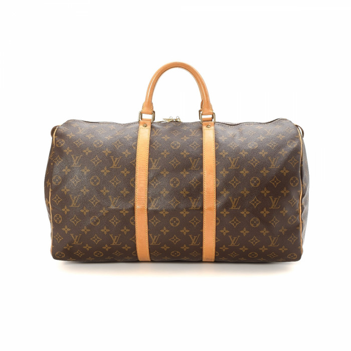 louis vuitton overnight bag. lxrandco guarantees this is an authentic vintage louis vuitton keepall 50 travel bag. beautiful weekend bag in brown made monogram coated canvas. overnight