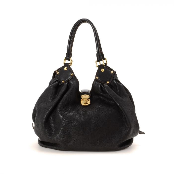 louis vuitton hobo bag. the authenticity of this vintage louis vuitton solar hobo bag shoulder is guaranteed by lxrandco. exquisite pocketbook in black made mahina