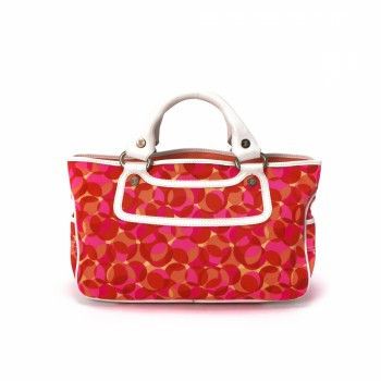 celine metallic leather handbag boogie