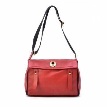 Yves Saint Laurent Muse Two Shoulder Bag Red Leather Shoulder Bag ...