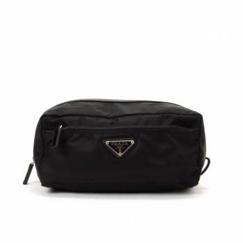 Prada Tessuto Pouch Black Nylon Vanity Case \u0026amp; Pouch - LXR\u0026amp;CO ...