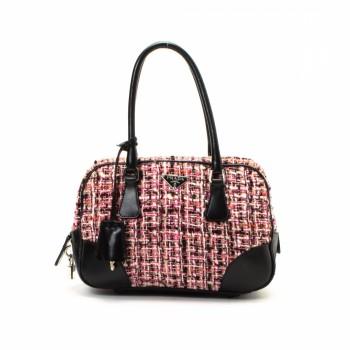 Prada Handbag Leather Handbag - LXR\u0026amp;CO Vintage Luxury