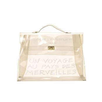replica hermes evelyne bag - Herm��s Transparent Vinyl Kelly Souvenir de L'Exposition 1997 Bag ...